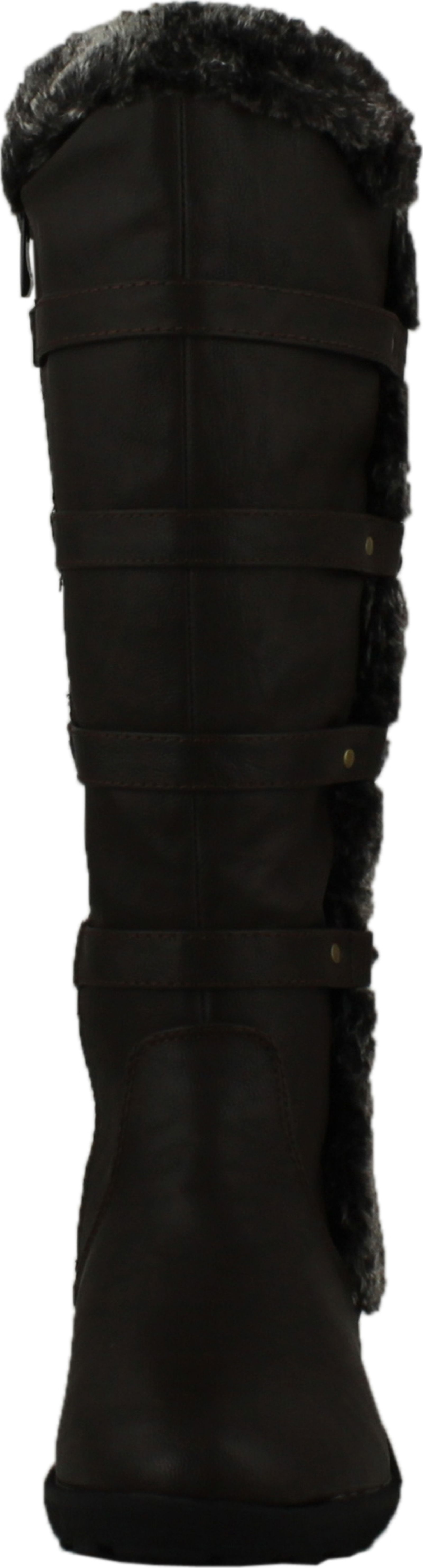 forever aura 42 womens back lace up knee high boots winter