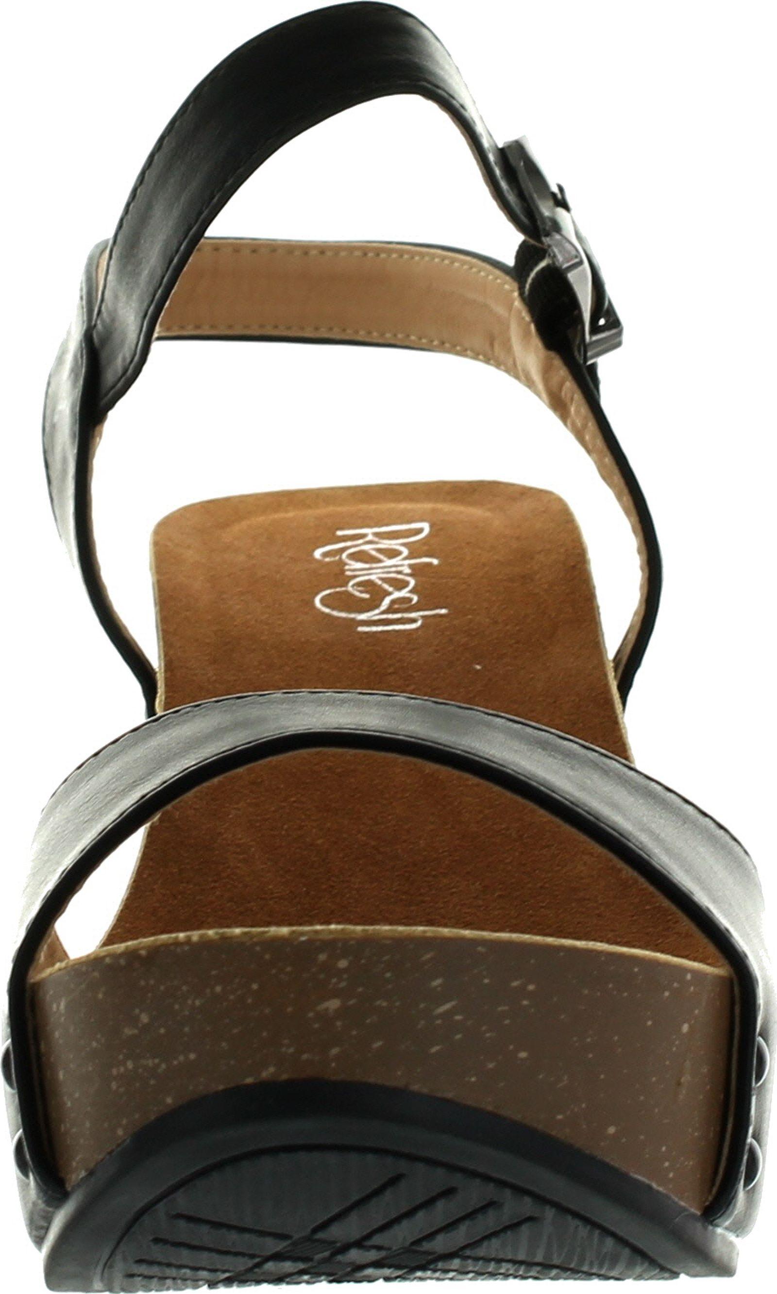 sandals honorine bocage smooth comfort leather gold comforter wedge