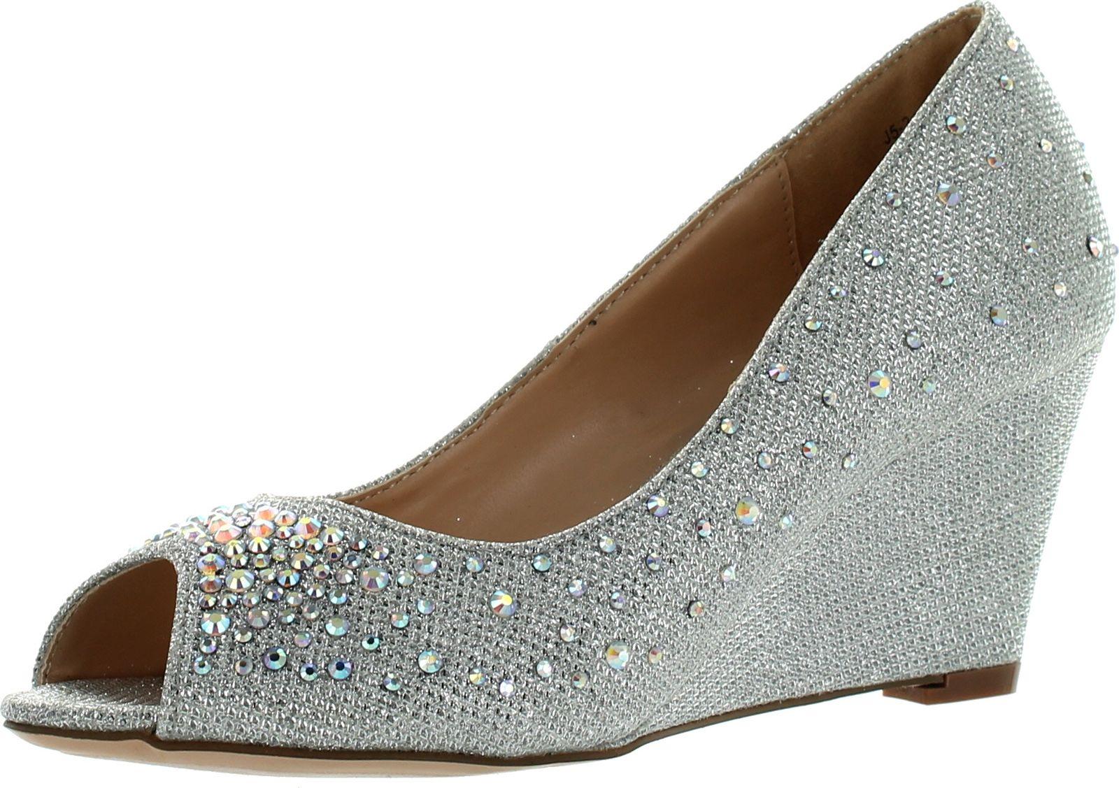 blossom womens half 3 dressy wedge shoes