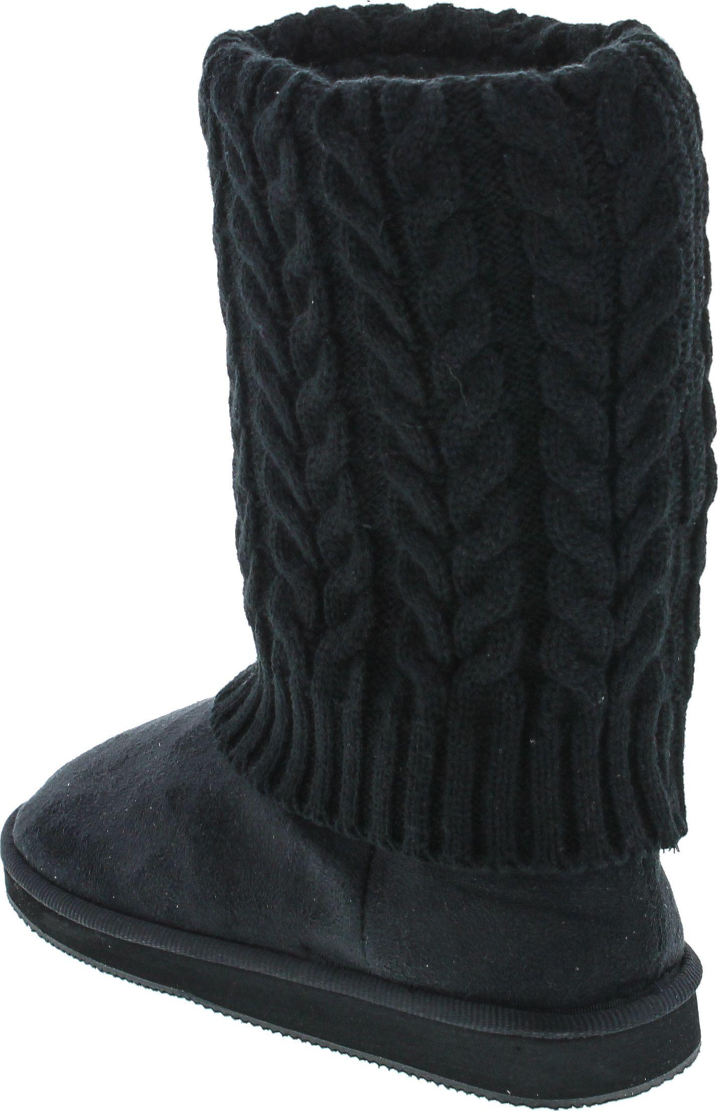 bay s rib knit sweater boot ebay