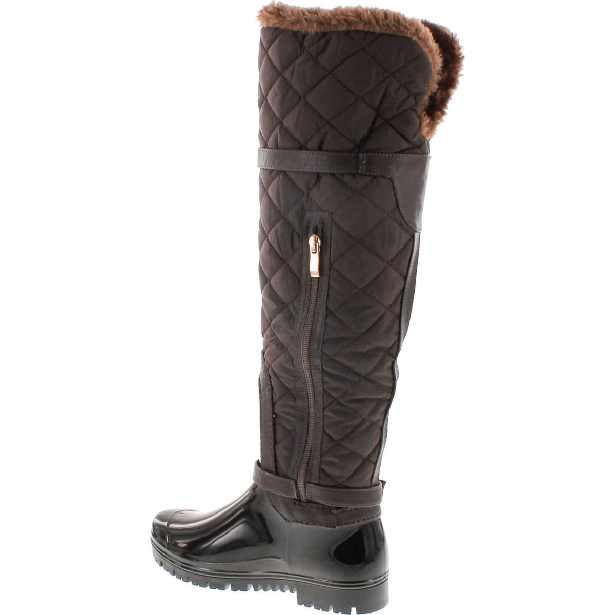 Forever Link Women/'s Carrie-66 Motorcyle Quilted Buckle Boots
