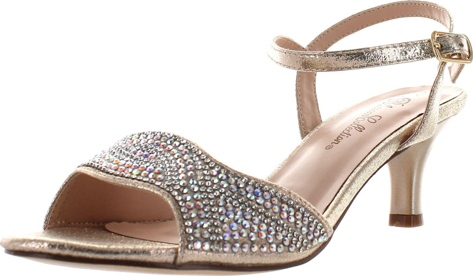 Fantastic Women39s Shoes Blossom Peggy 3 Embellished Low Heel Dress Sandals Black