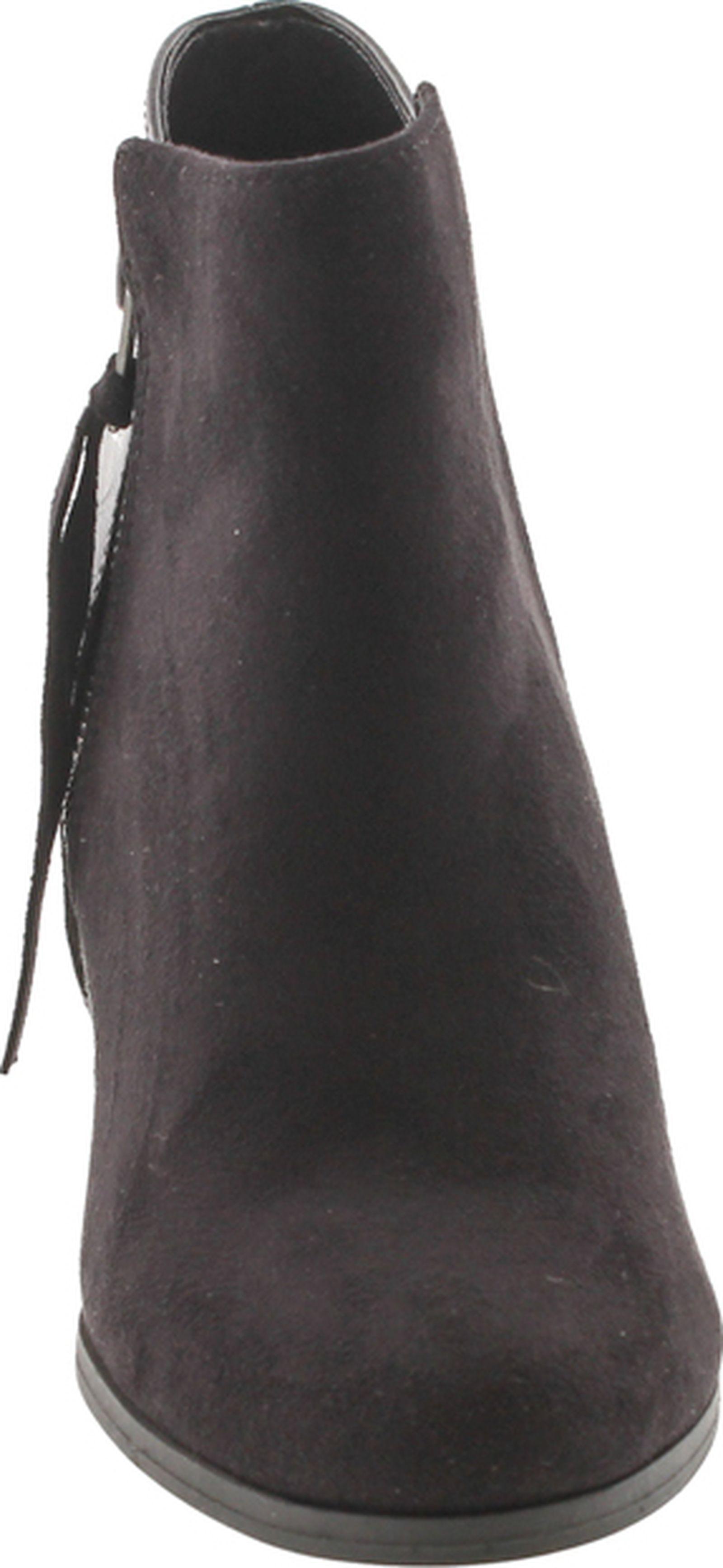 Soda Women/'s Ages Tassel Zip Chunky Heel Bootie