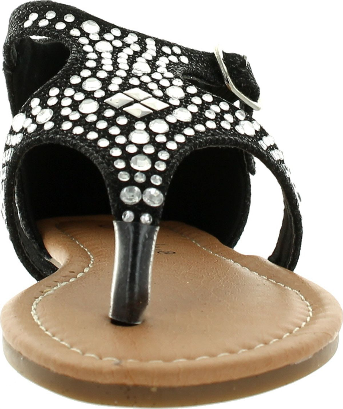 SUNNY DAY SANDRA-19 Kid/'s Girl Rhinestone T-Strap Cut Out Flat Sandals