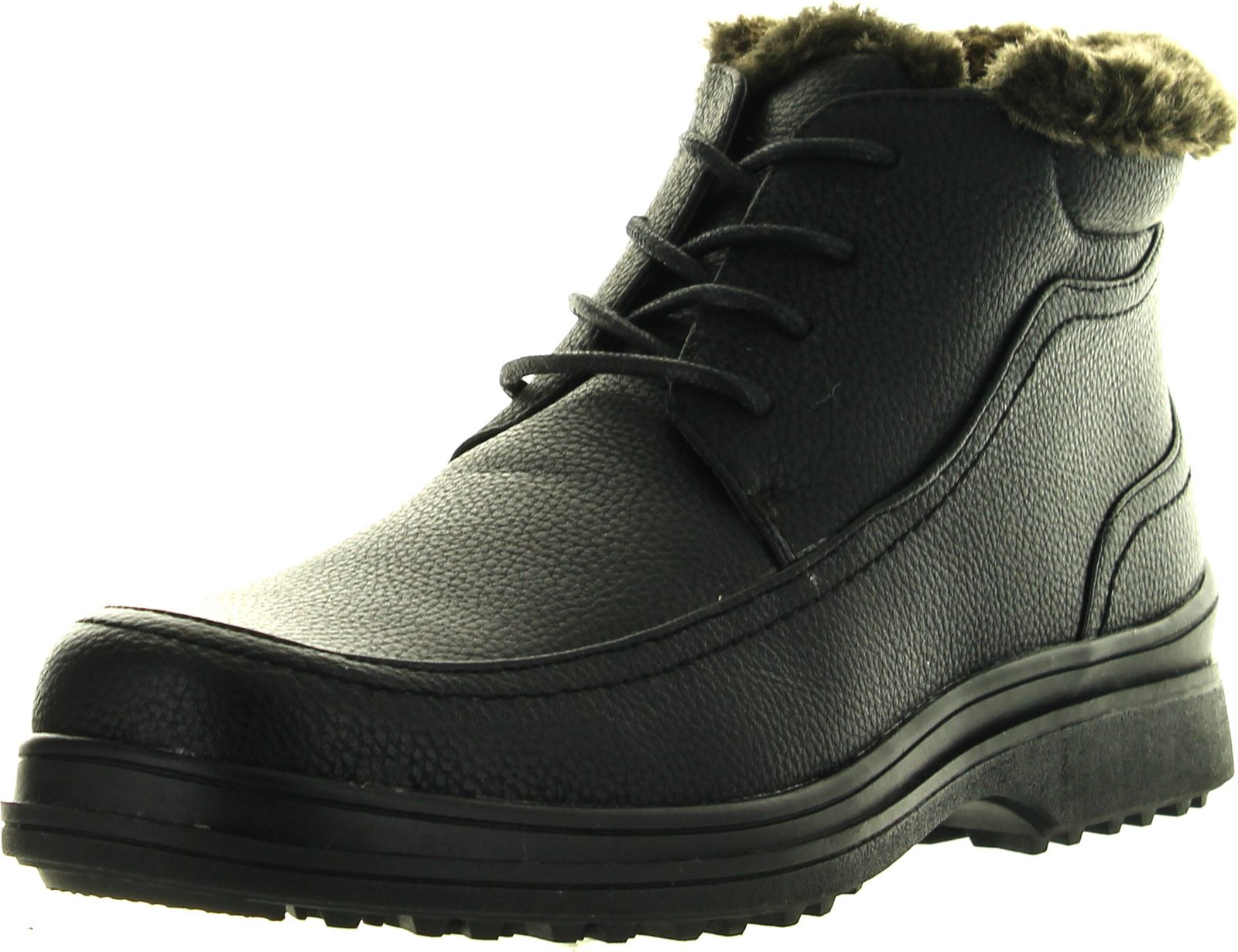 Brixton Mens Rusi 03 Cold Weather Lace Up Boots With Faux Fur Lining