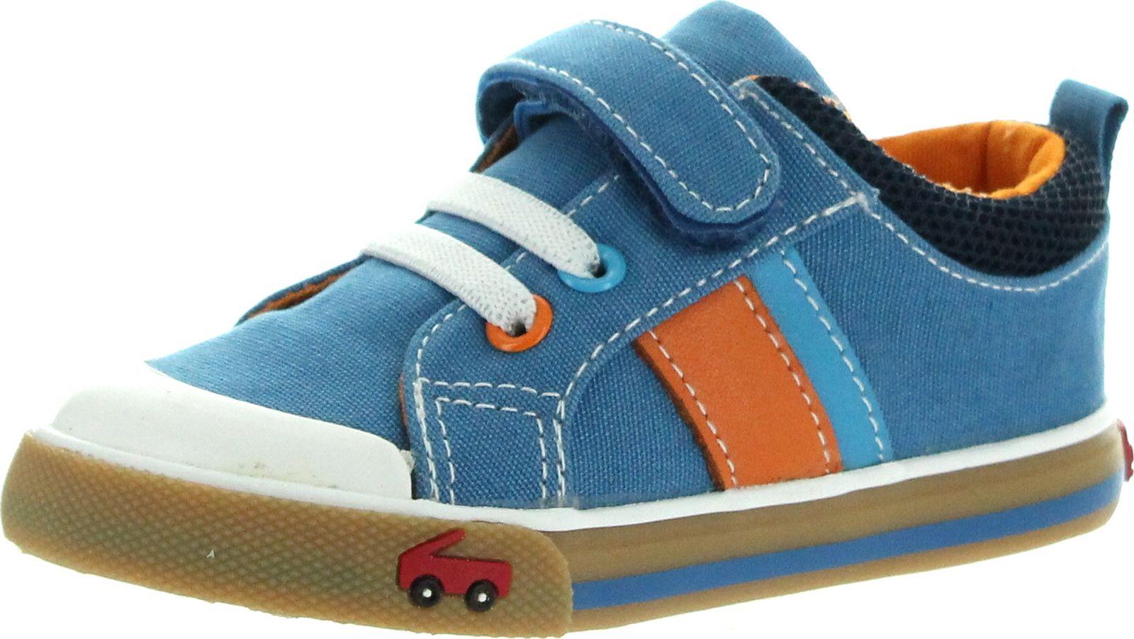See Kai Run See Kai Run Boys Corbin Velcro Canvas Fashion Sneakers
