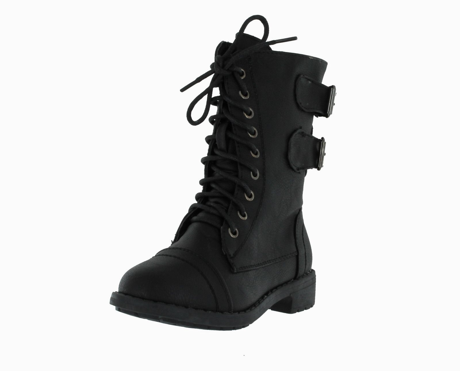 pack 72 little girls combat lace up boots ebay