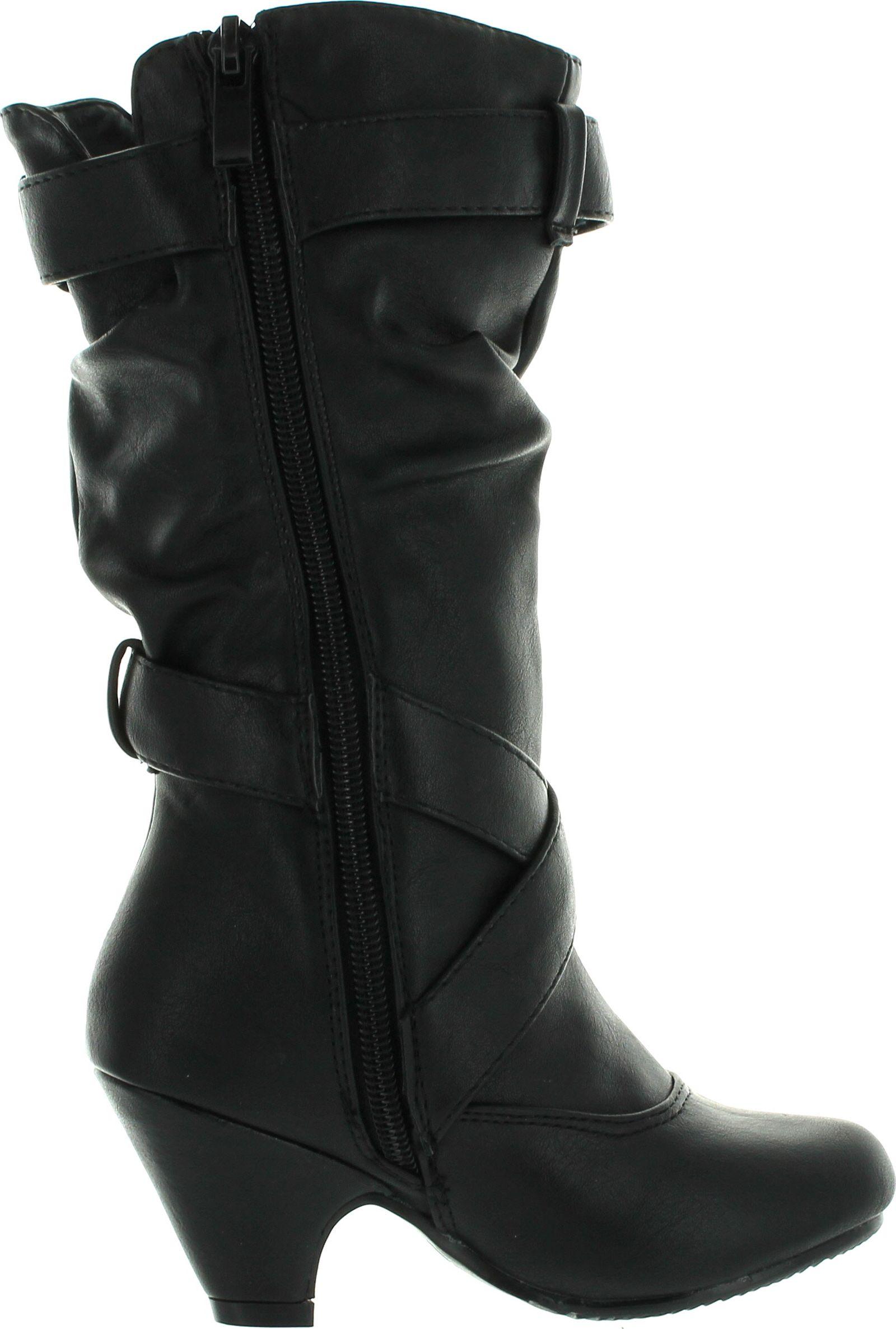 Link Little Girl's Pauline-38 Kitten Heel Boots With Decorative ...