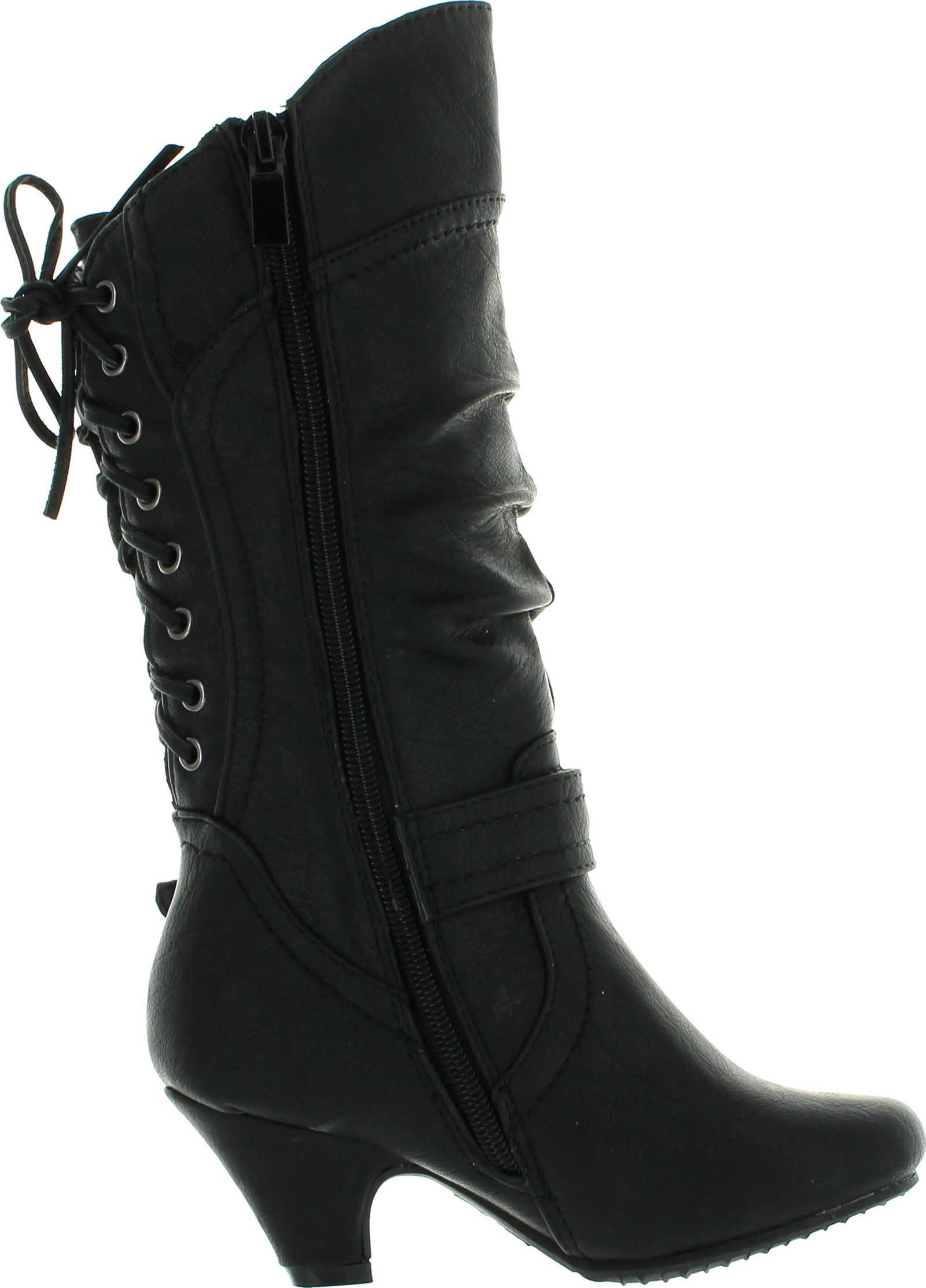 Back lace up boots - Lucky Top Kids Girls Back Lace Up Tie
