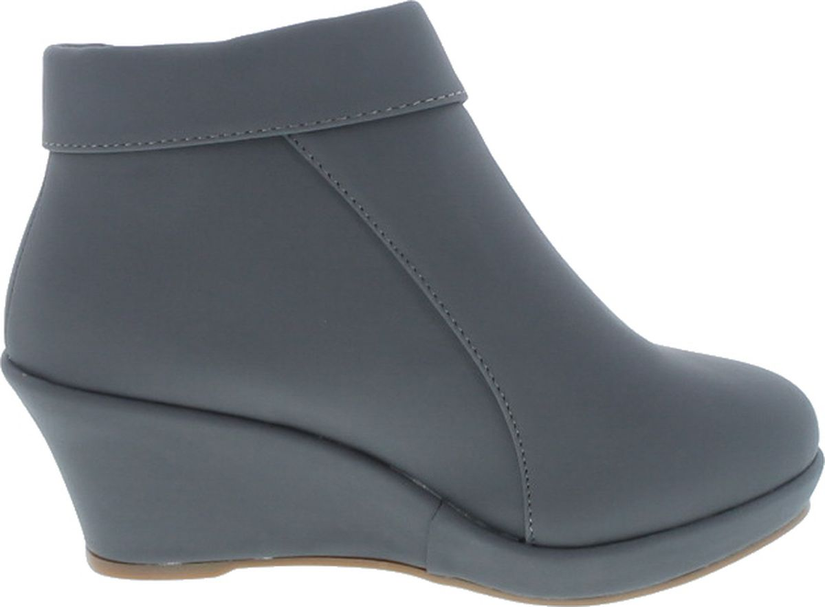 Lucky Top Stella-6K Children Girl/'s Platform Wedge Heel Fold Over Ankle Booties