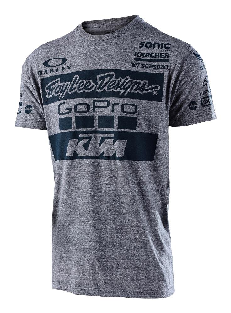 Troy lee designs 2017 ktm go pro team licensed t shirt for Travel t shirt design ideas