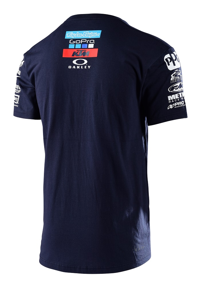 Troy lee designs 2017 ktm go pro team licensed t shirt for Two color shirt design