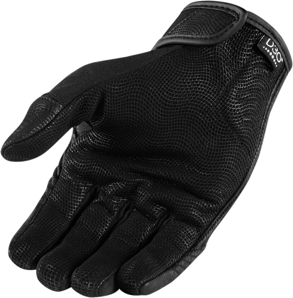 Motorcycle gloves d30 - Icon Racing 1000 2016 Adult Forestall Motorcycle Black D30 Knuckle Gloves Small