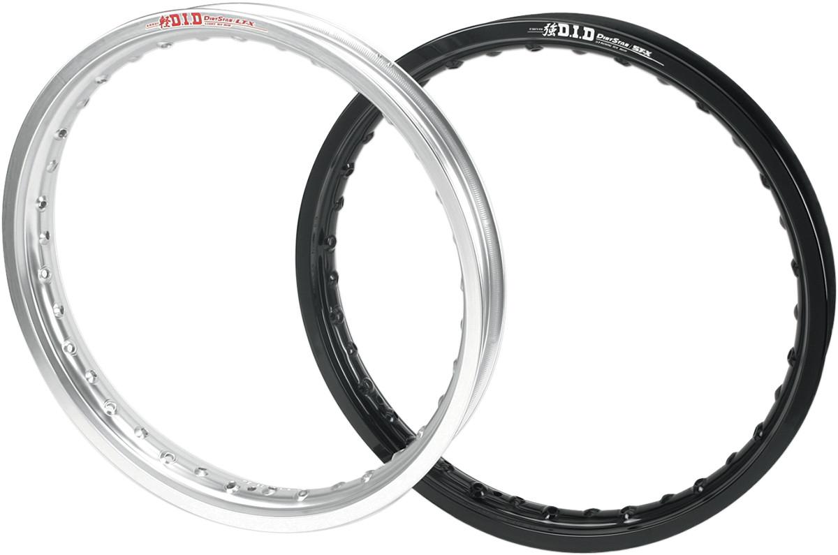 Black 21x1.60 - 0210-0201 Moose Racing Aluminum Front Rim
