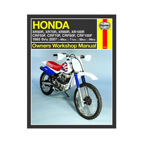Haynes Motorcycle Repair Manual For Honda XR 80 R 1985