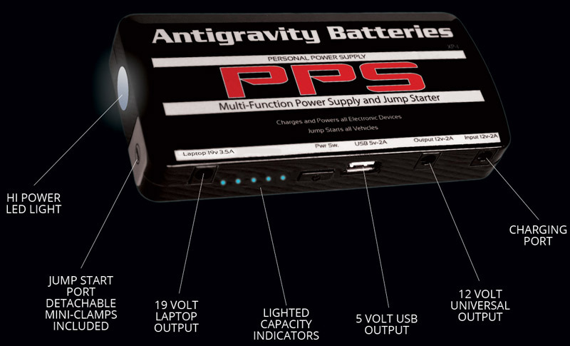 Antigravity-Battery-Micro-Start-XP-1-Lithium-Ion-Jump-Starter-w-IPhone-5-Plug