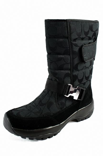 coach sharron signature c logo black winter boots s