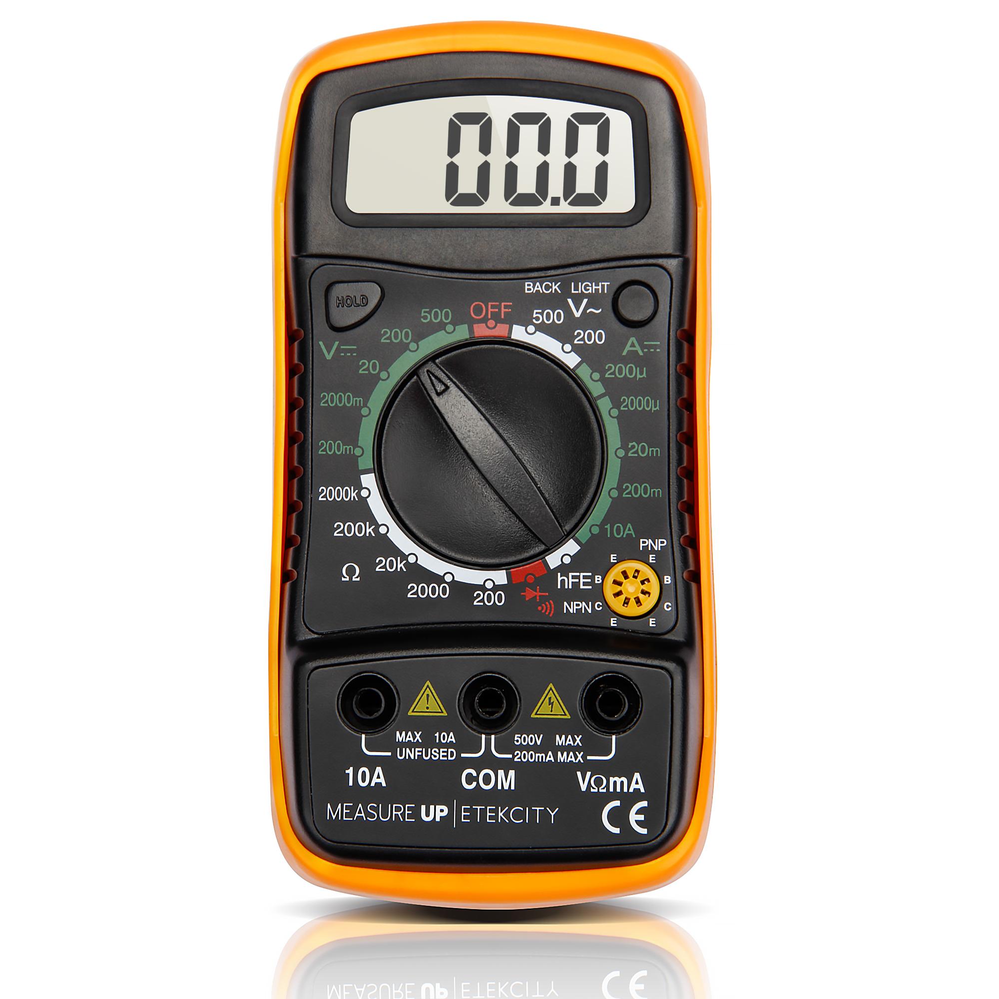 Use A Voltmeter : Etekcity digital multimeter voltmeter ammeter ohmmeter