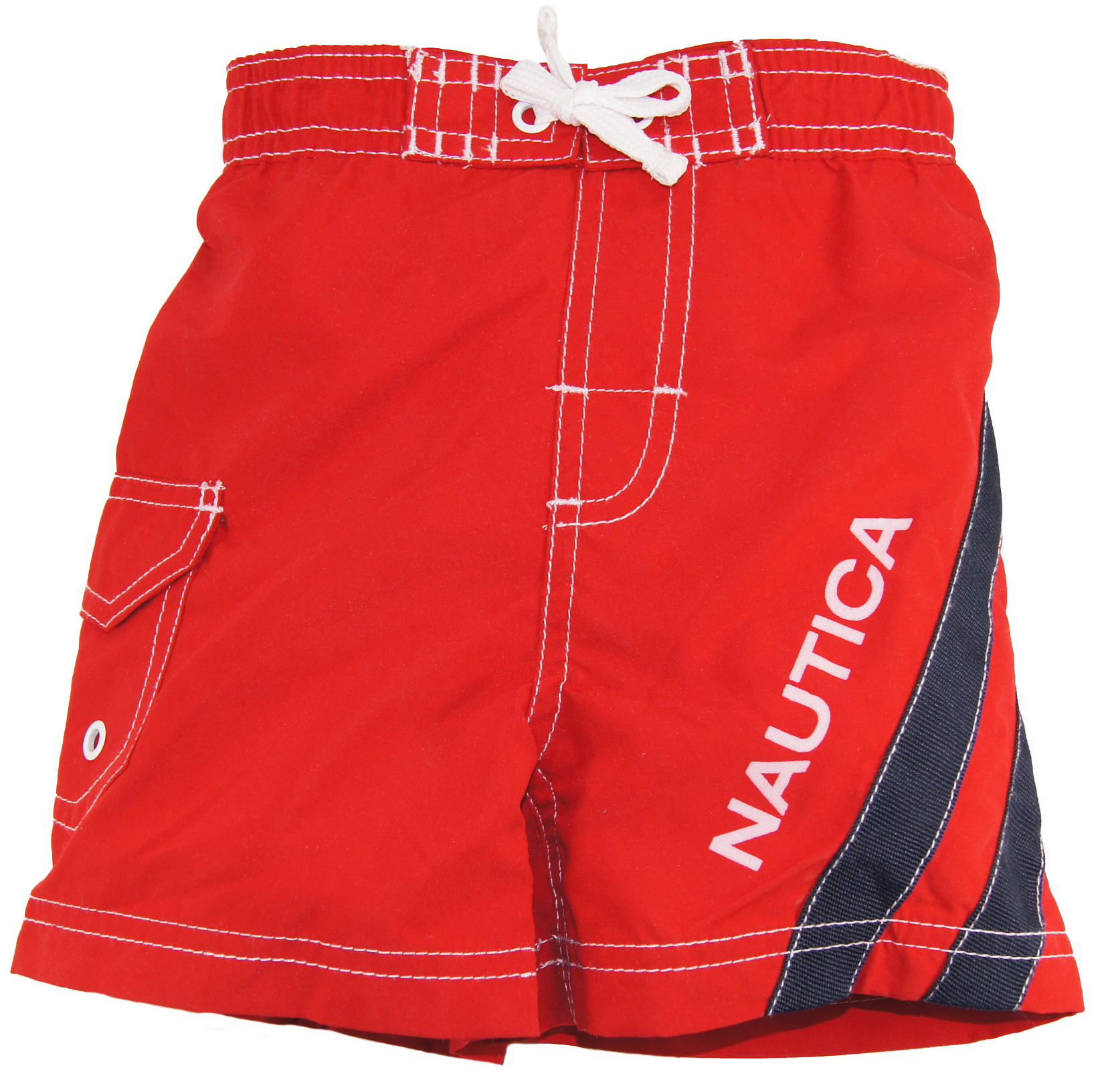 Nautica Baby Boys Red Swim Trunks