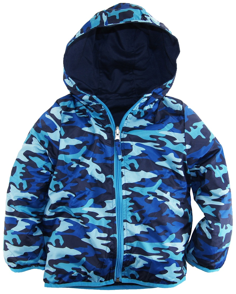 iXtreme Little Boys' Toddler Camo Army Reversable Jacket Spring Coat