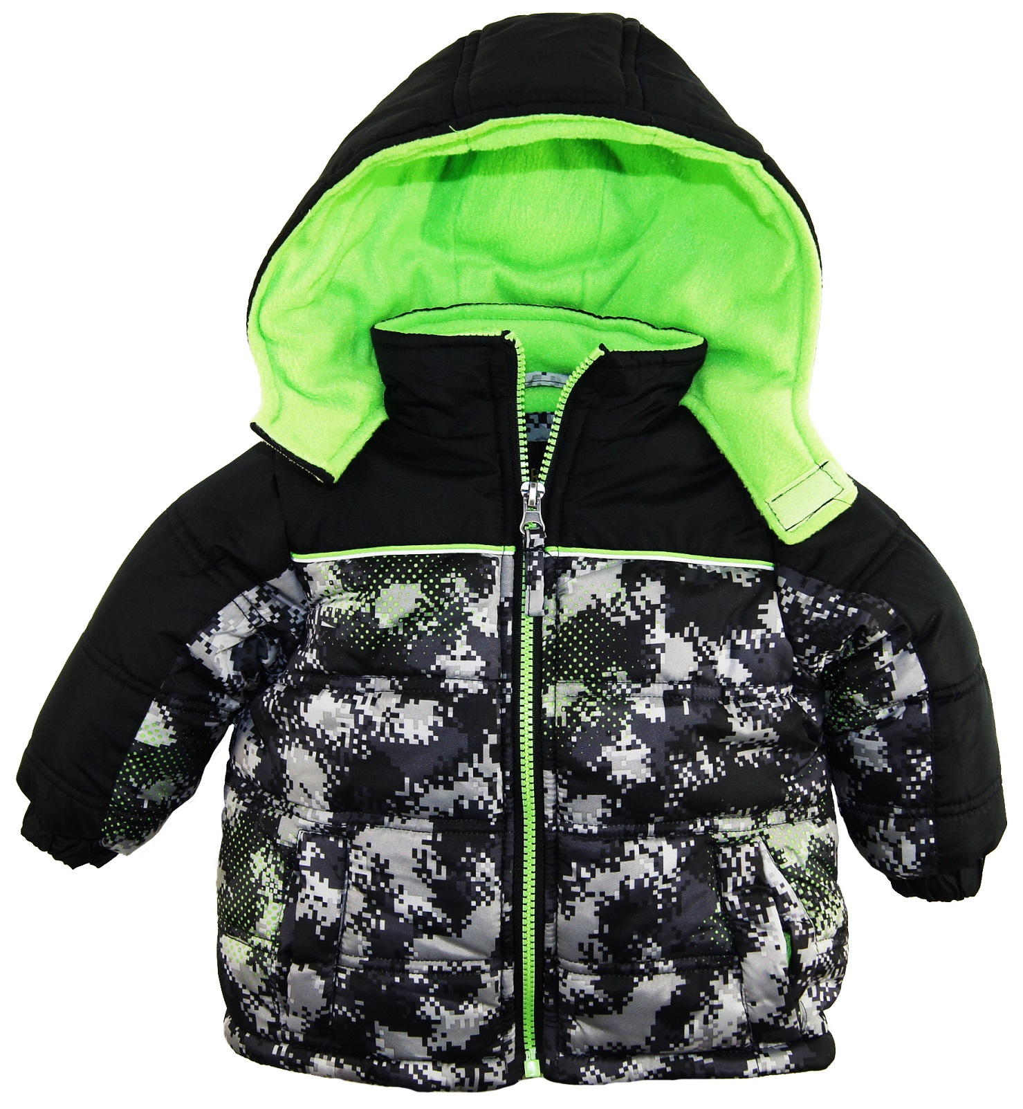 iXtreme Baby Boys' Infant Digital Camo Print Puffer Winter Hooded Jacket Coat