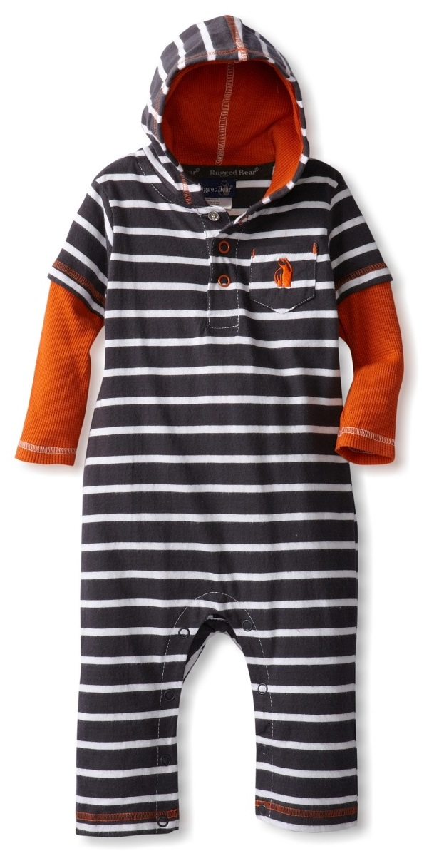 Rugged Bear Baby Boys Interlock Coverall with Thermal Two Fer Sleeves at Sears.com