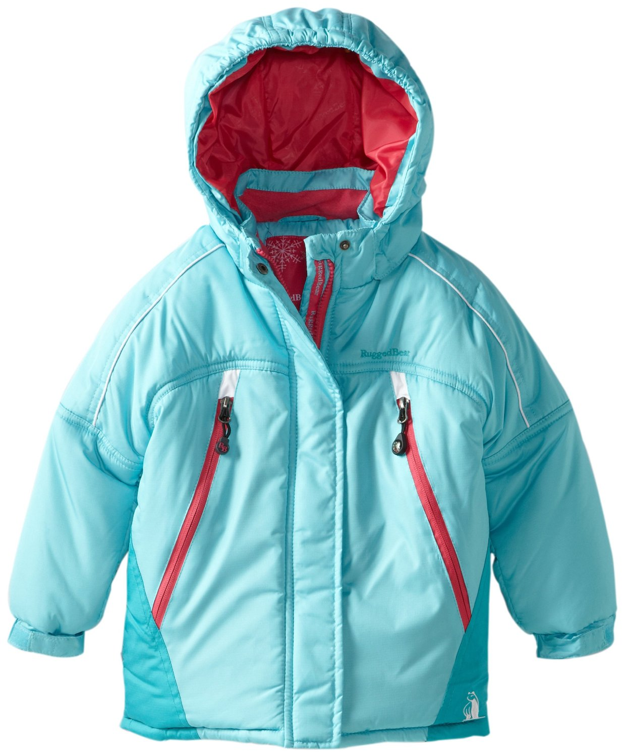 Rugged Bear Infant Girls Color Block Blue Snow Ski Jacket / Coat 12M 18M 24M at Sears.com