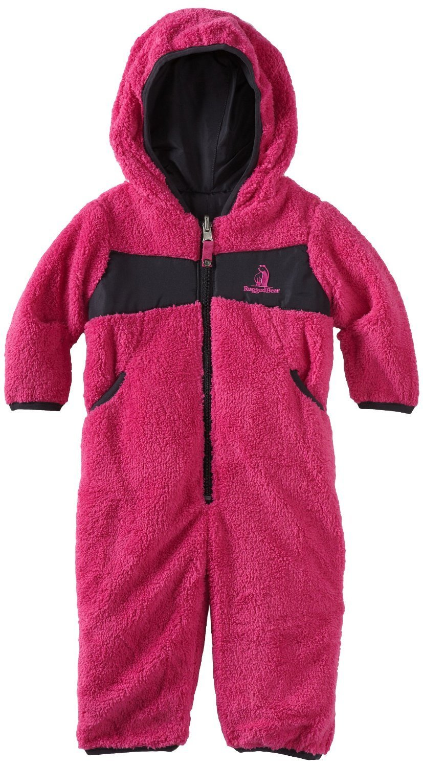 Rugged Bear Baby-Girls Infant Solid Pram Jacket/Coat Snowsuit Fuchsia 12M18M24M at Sears.com