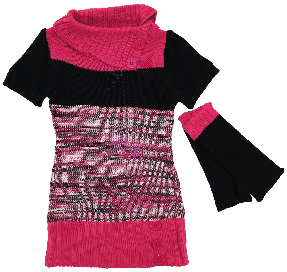 Arm Knitting Sweater : Dollhouse little girls short sleeve knit long cardigan