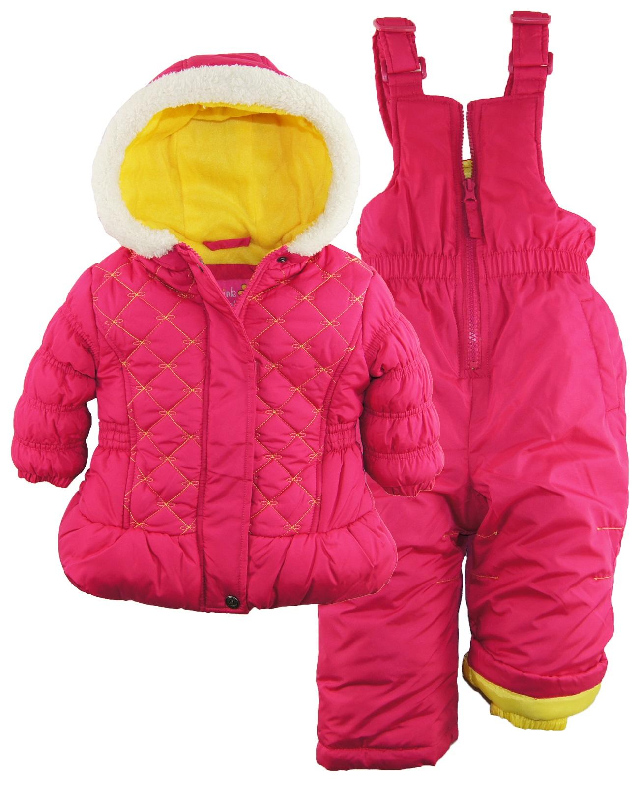 Pink Platinum Baby Girls Quilted Winter Puffer Jacket