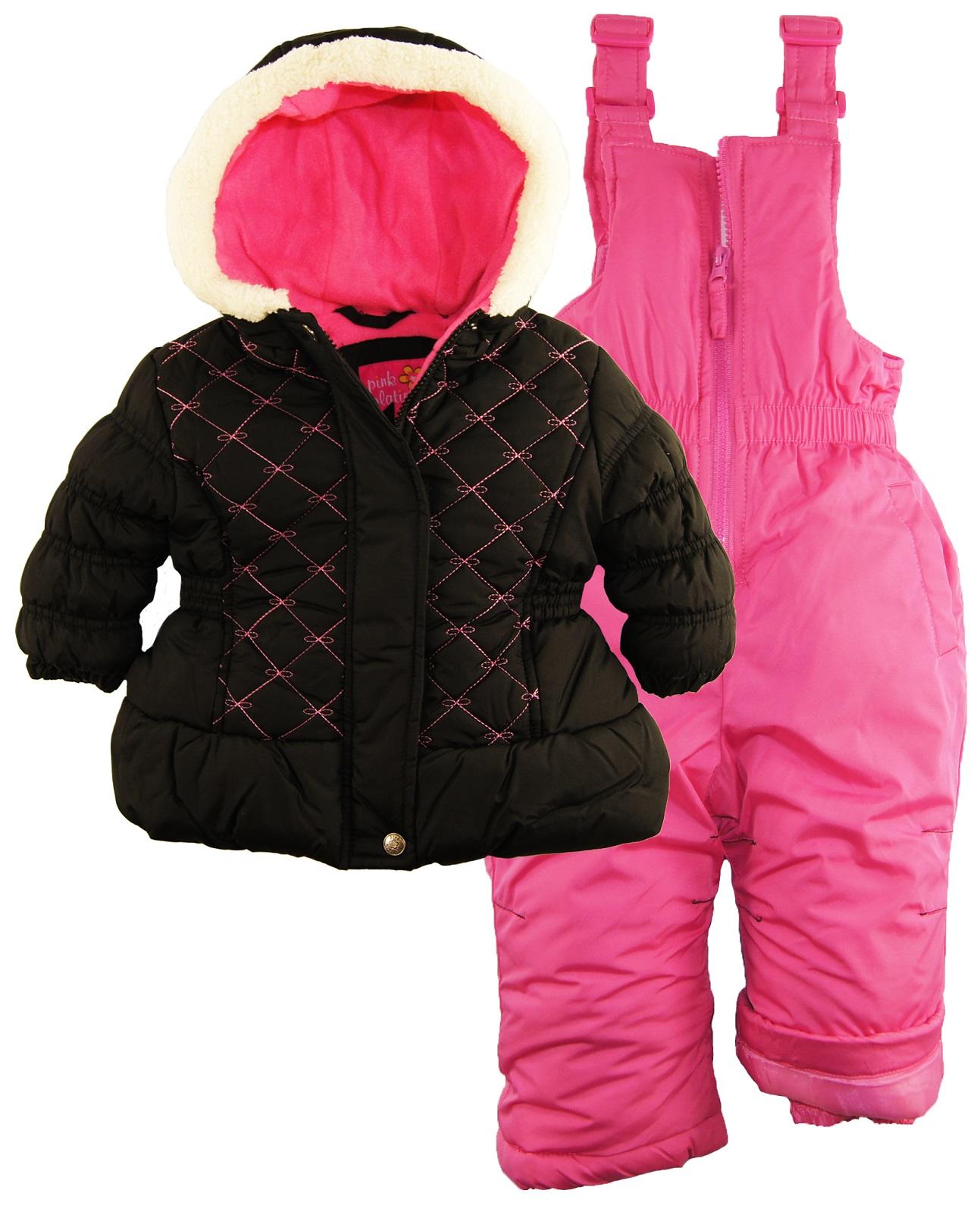 pink platinum baby girls quilted winter puffer jacket. Black Bedroom Furniture Sets. Home Design Ideas