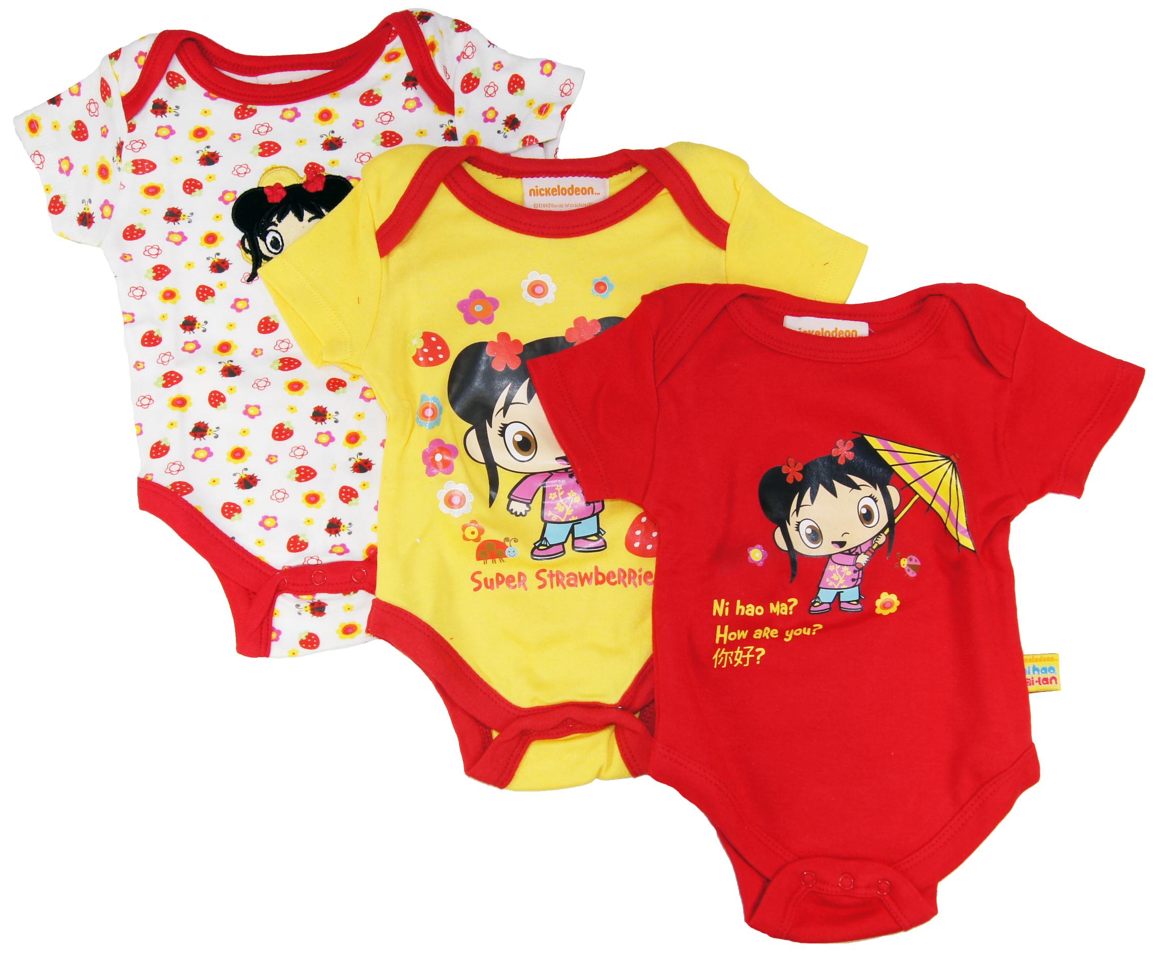 Nickelodeon Ni Hao Kai-Lan Newborn Baby-Grils Cotton Creepers-Bodysuit 3Pc Set at Sears.com