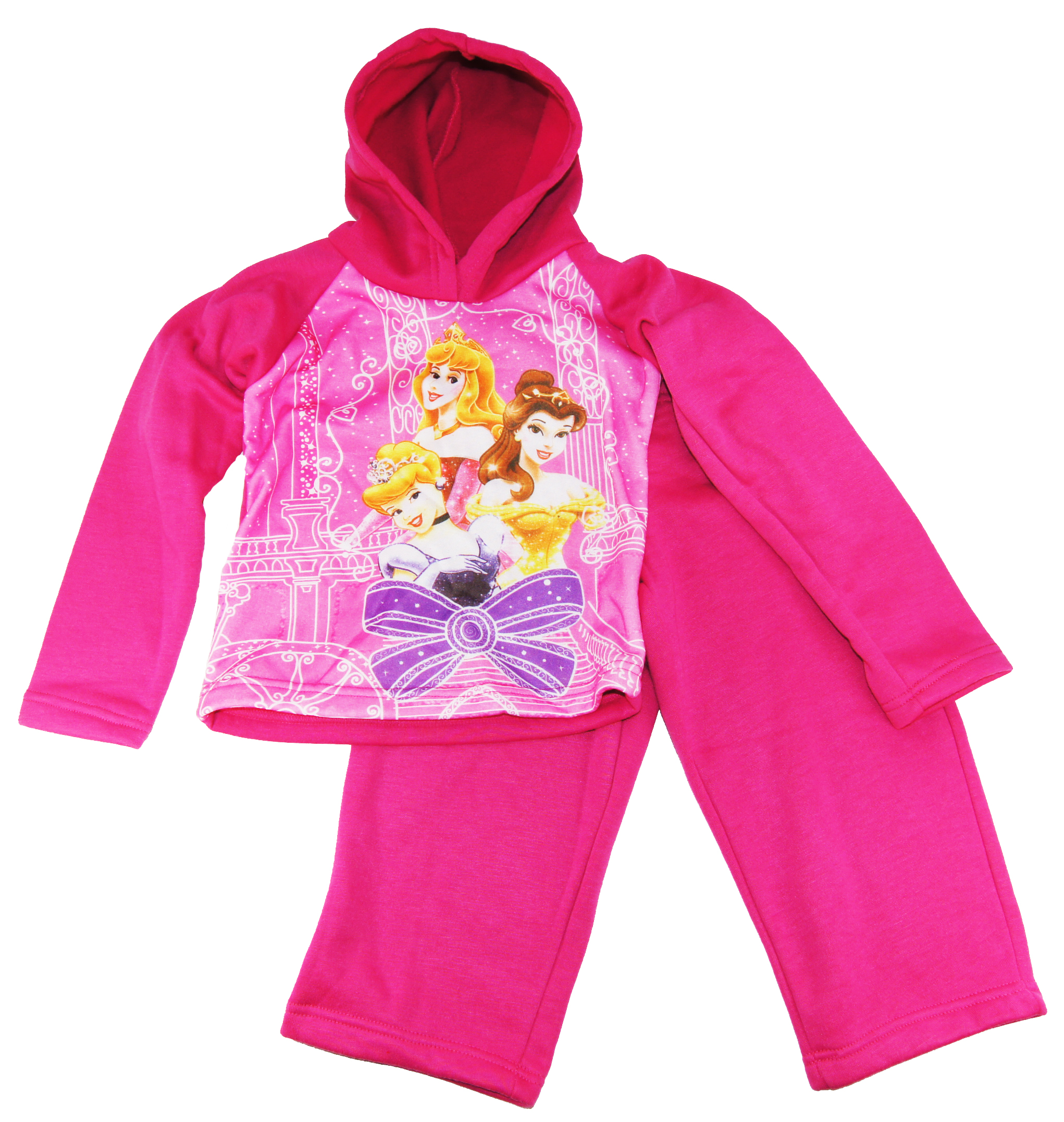 Disney Toddler Girls Princess Pink Tricot Track Hooded Jacket & Pants 2T 3T 4T at Sears.com