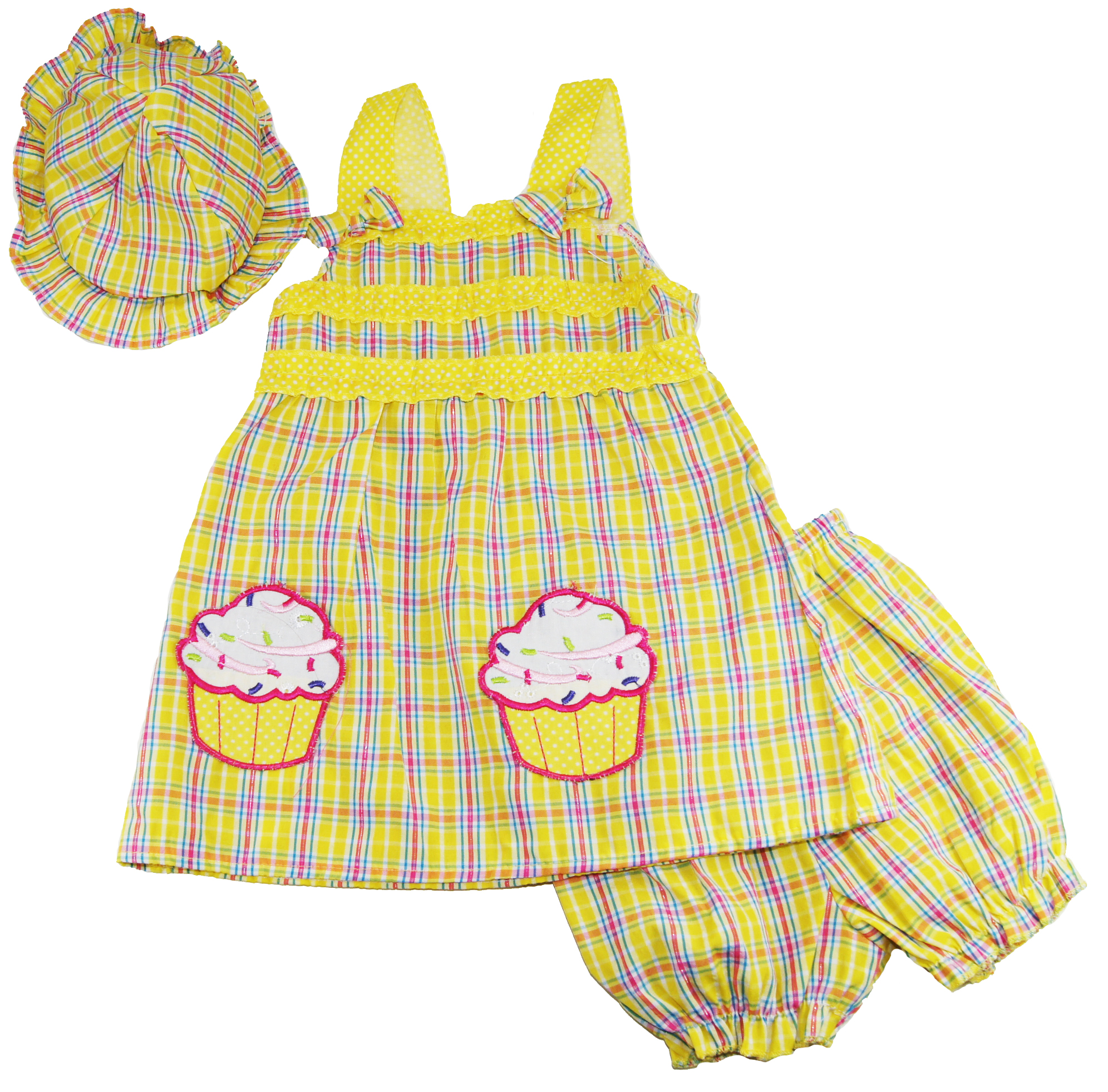 Coney Island Baby Girls Cupcake Dress with Hat and Diaper Cover Set at Sears.com