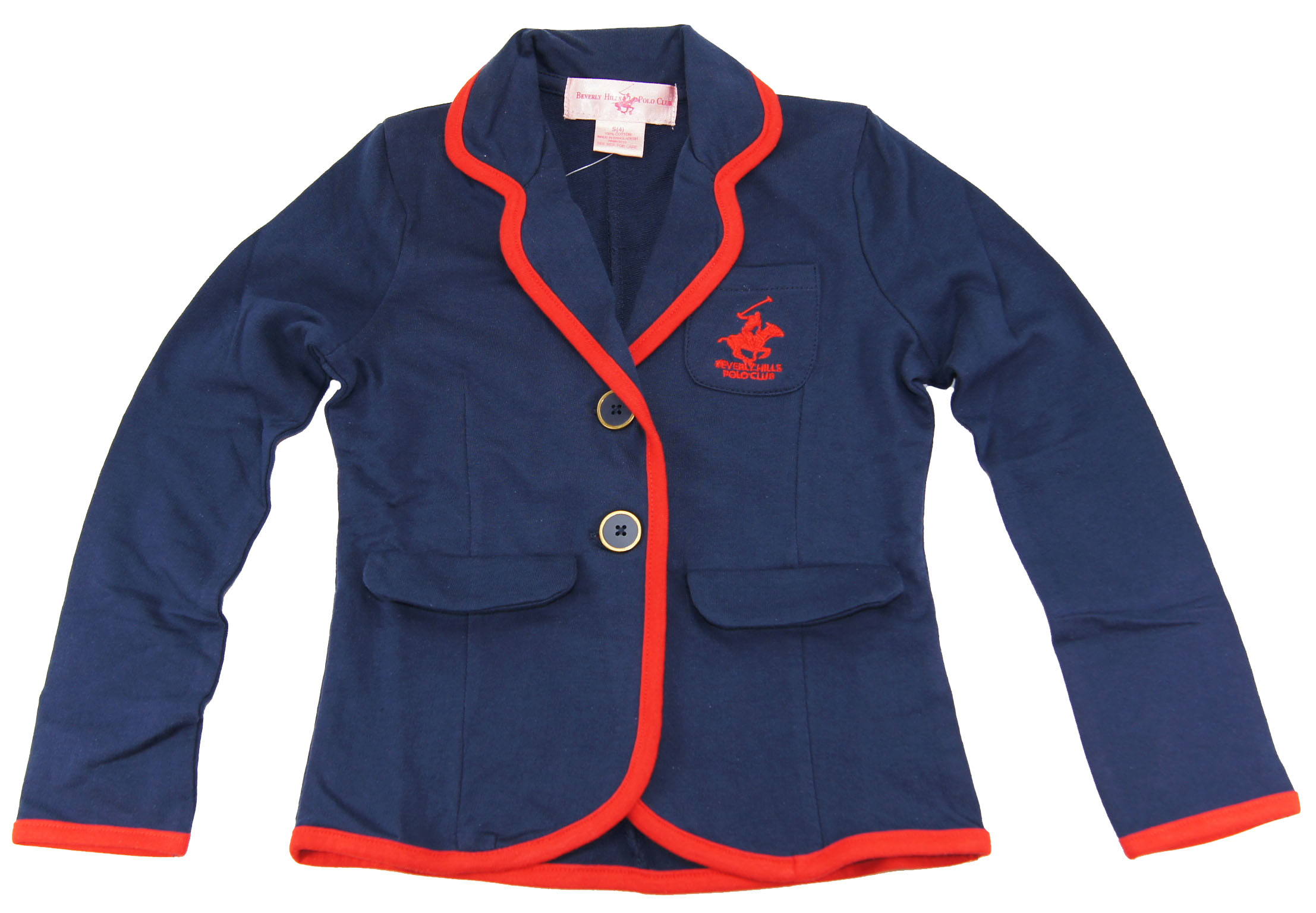 Beverly Hills Polo Club Beverly  Hills Polo Club Girls Navy French Terry Blazer size 2T 3T 4T 4 5/6 6X at Sears.com