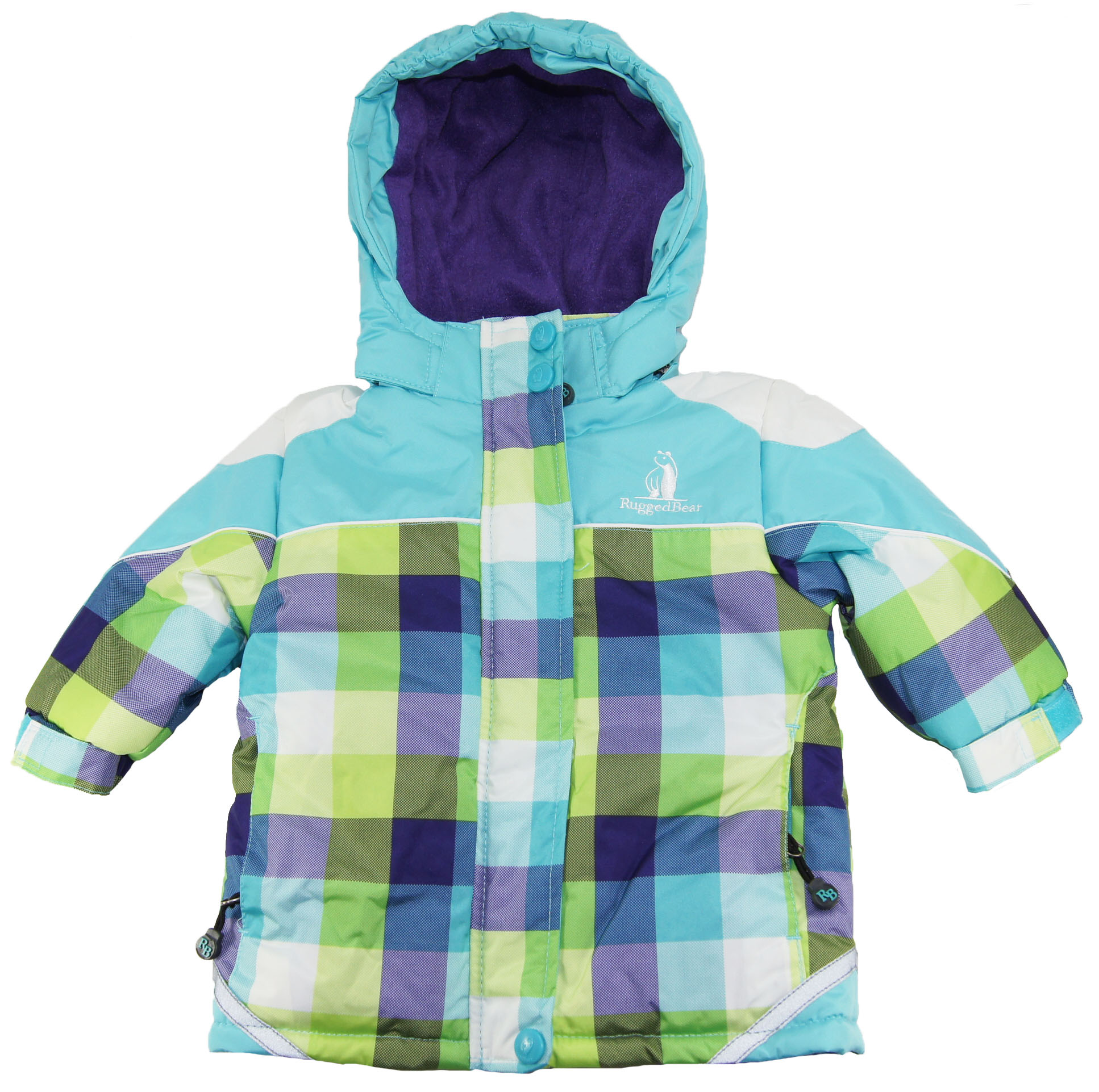Rugged Bear Toddler Girls Blue Checked Hooded Snow Ski Jacket/Coat 2T 3T 4T at Sears.com