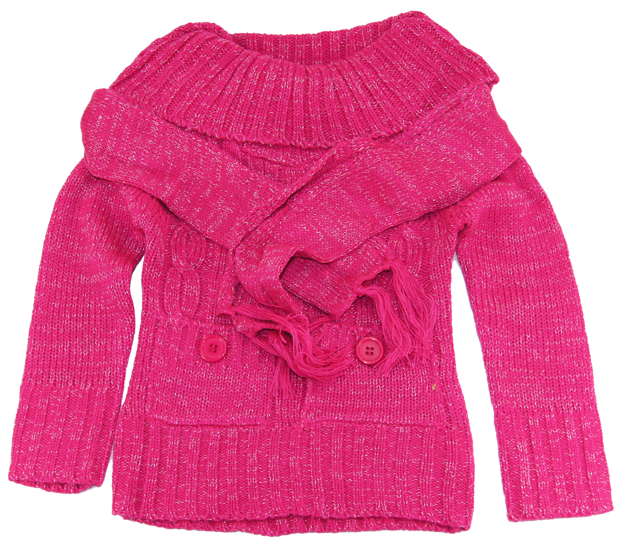 Dollhouse Toddler Girls 2-6X Pink Turtleneck Cardigan Sweater with Scarf Set at Sears.com