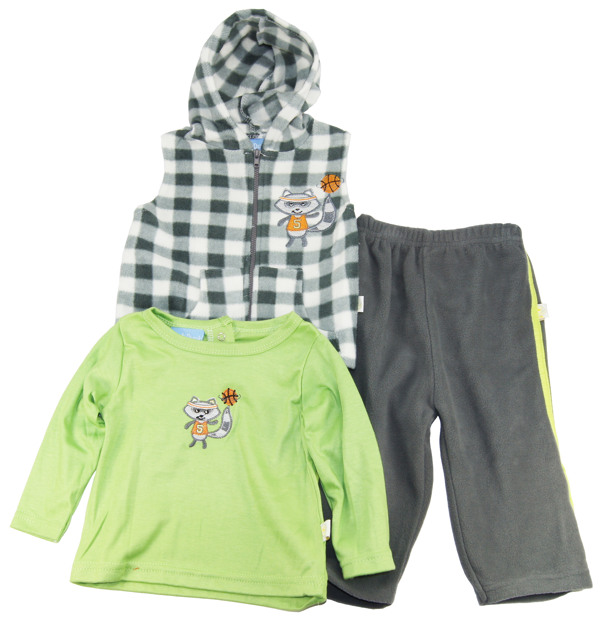 Duck Duck Goose Baby-Boy 0-24M Fox Sherpa Hooded Vest Tee Pants 3 Pc Fleece Set at Sears.com