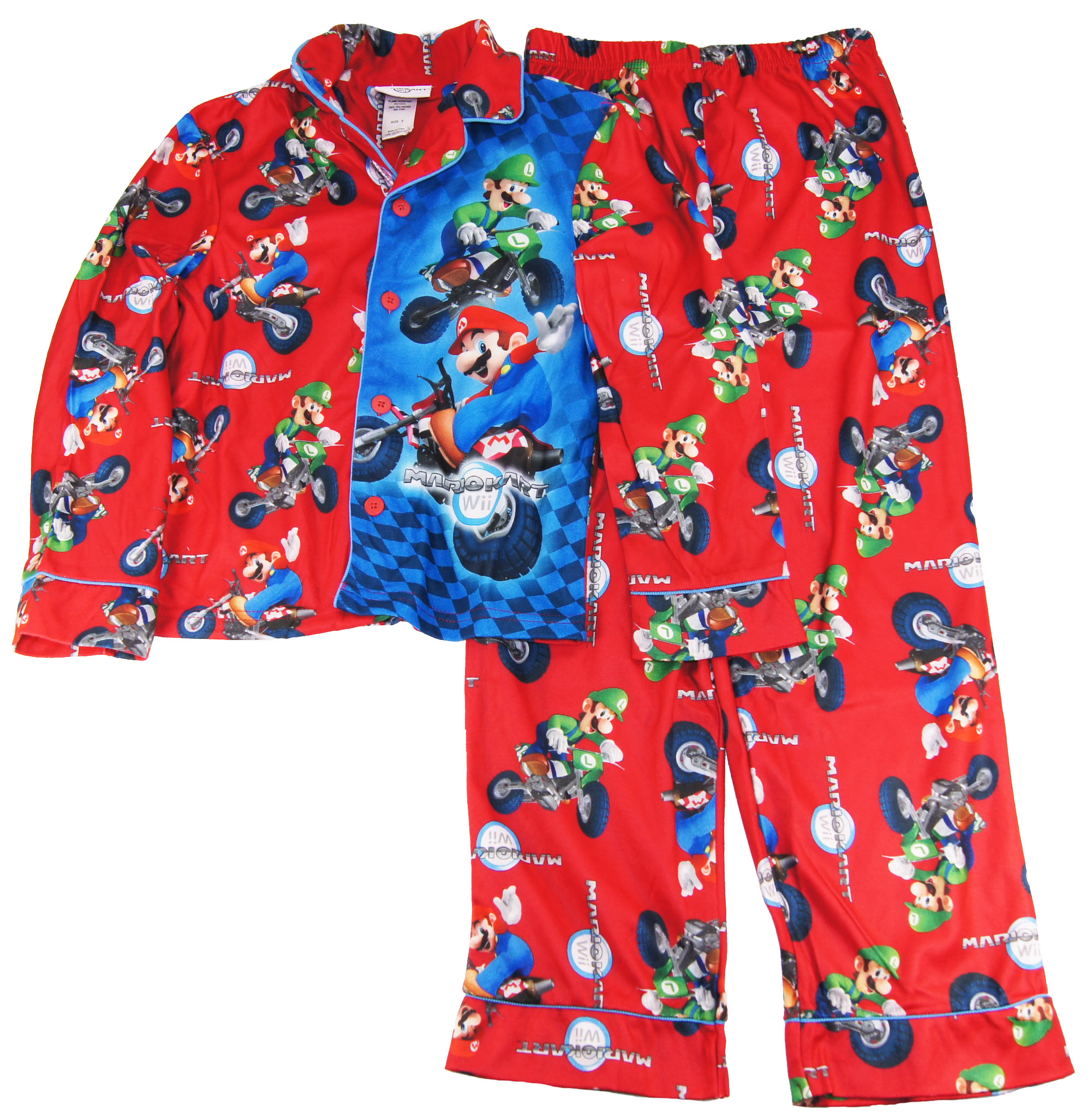 super mario Boys  Brothers Mariokart Wii Pajama Pants 2 Piece Set at Sears.com