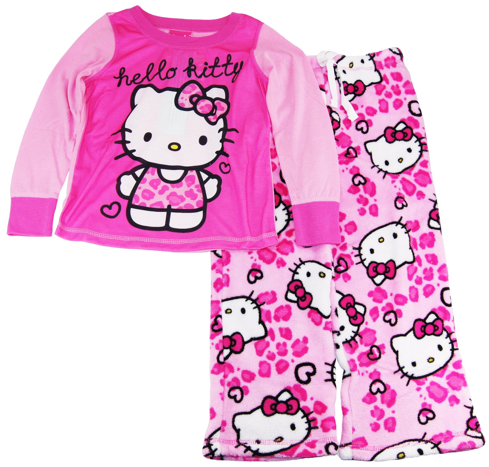Hello Kitty Girls Long Sleeve  Pajamas with Sherpa Pants Set at Sears.com