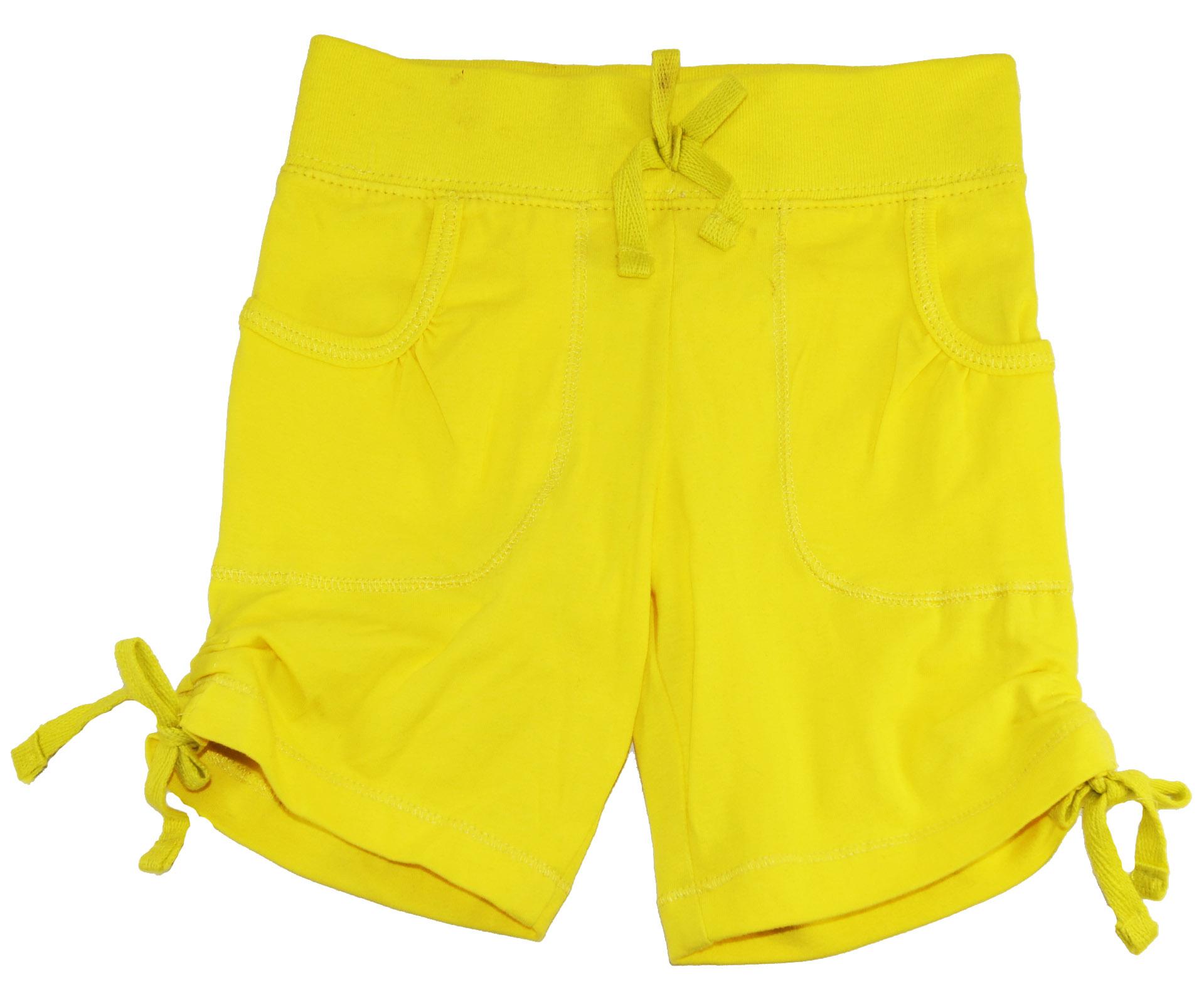 One Step Up Little Girls Yellow Lemon Heather Bermuda Short