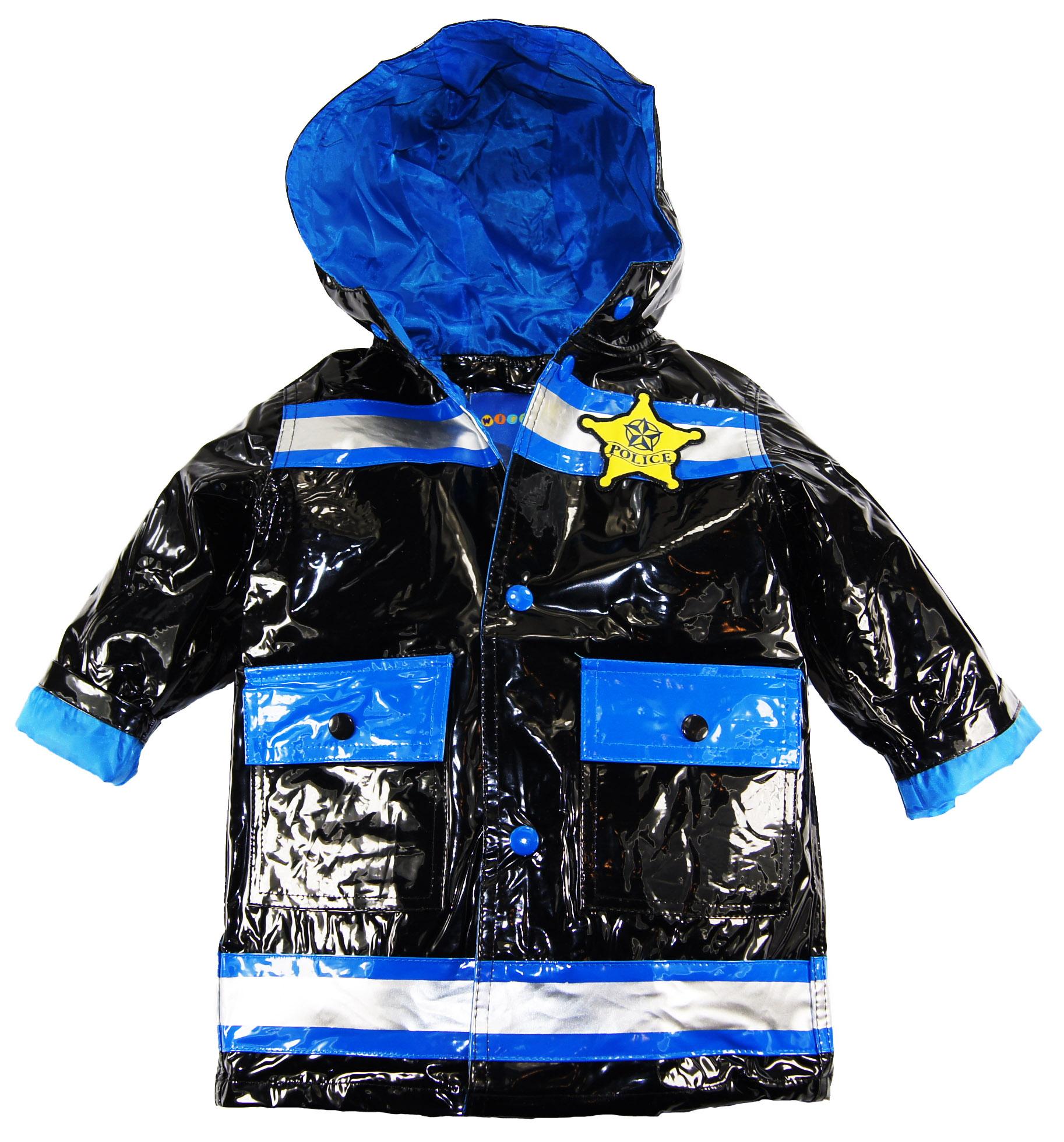 Wippette Baby Boys Infant Police Hooded Rain Coat Jacket