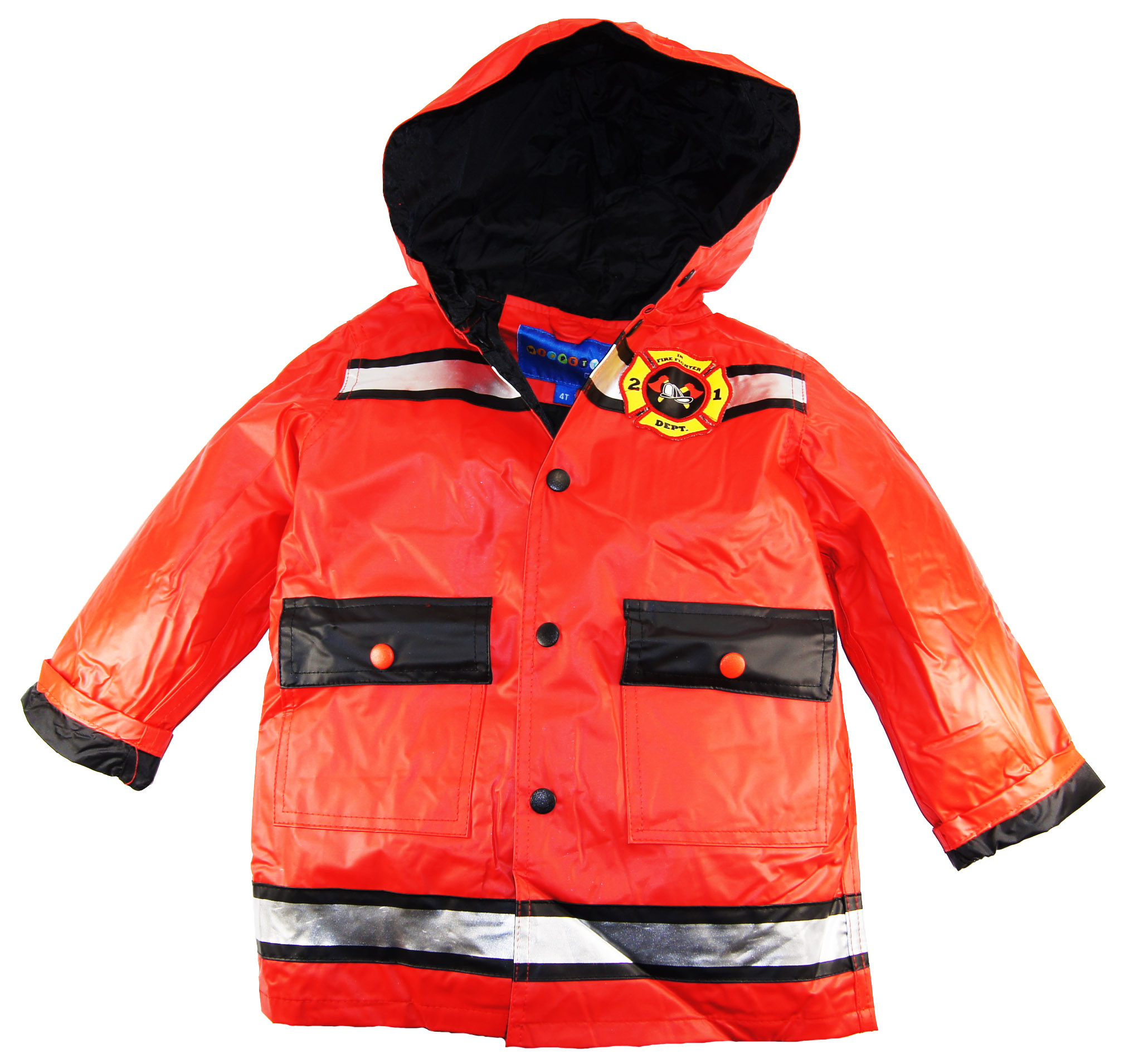 Wippette Boys Hooded Firefighter Raincoat Jacket (sizes 2T-7) at Sears.com