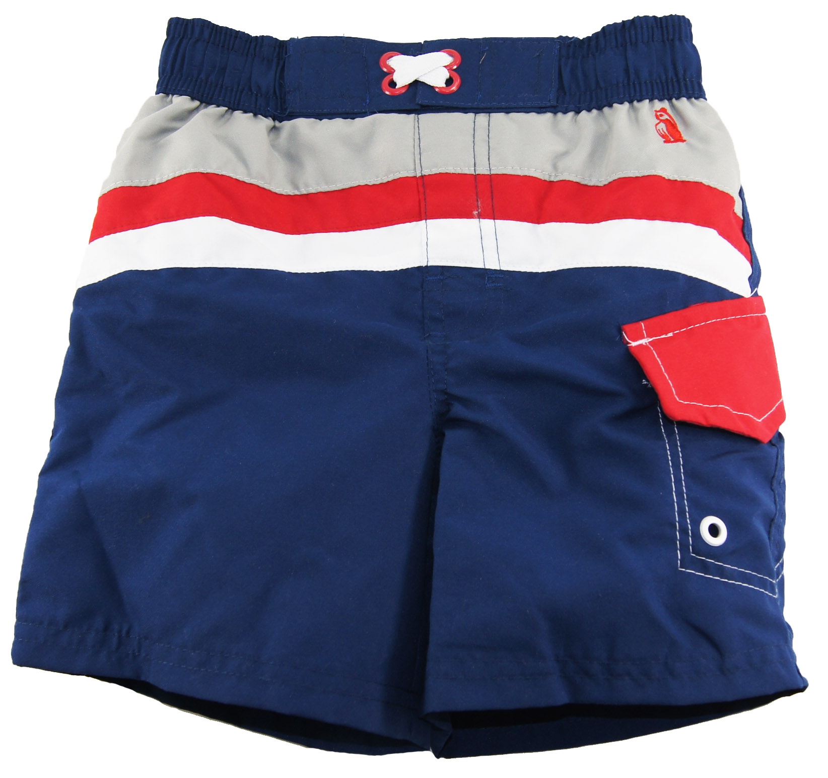 Rugged Bear Baby Boys Swimwear Stripes Color Block Swim Trunk