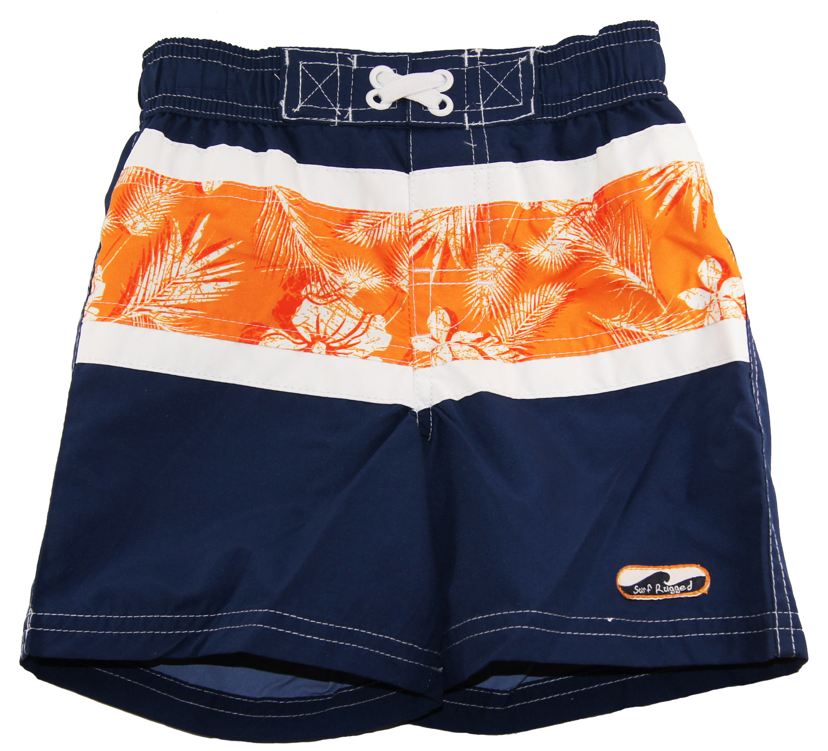 Rugged Bear Baby Boys Hawaiian Swim Trunk