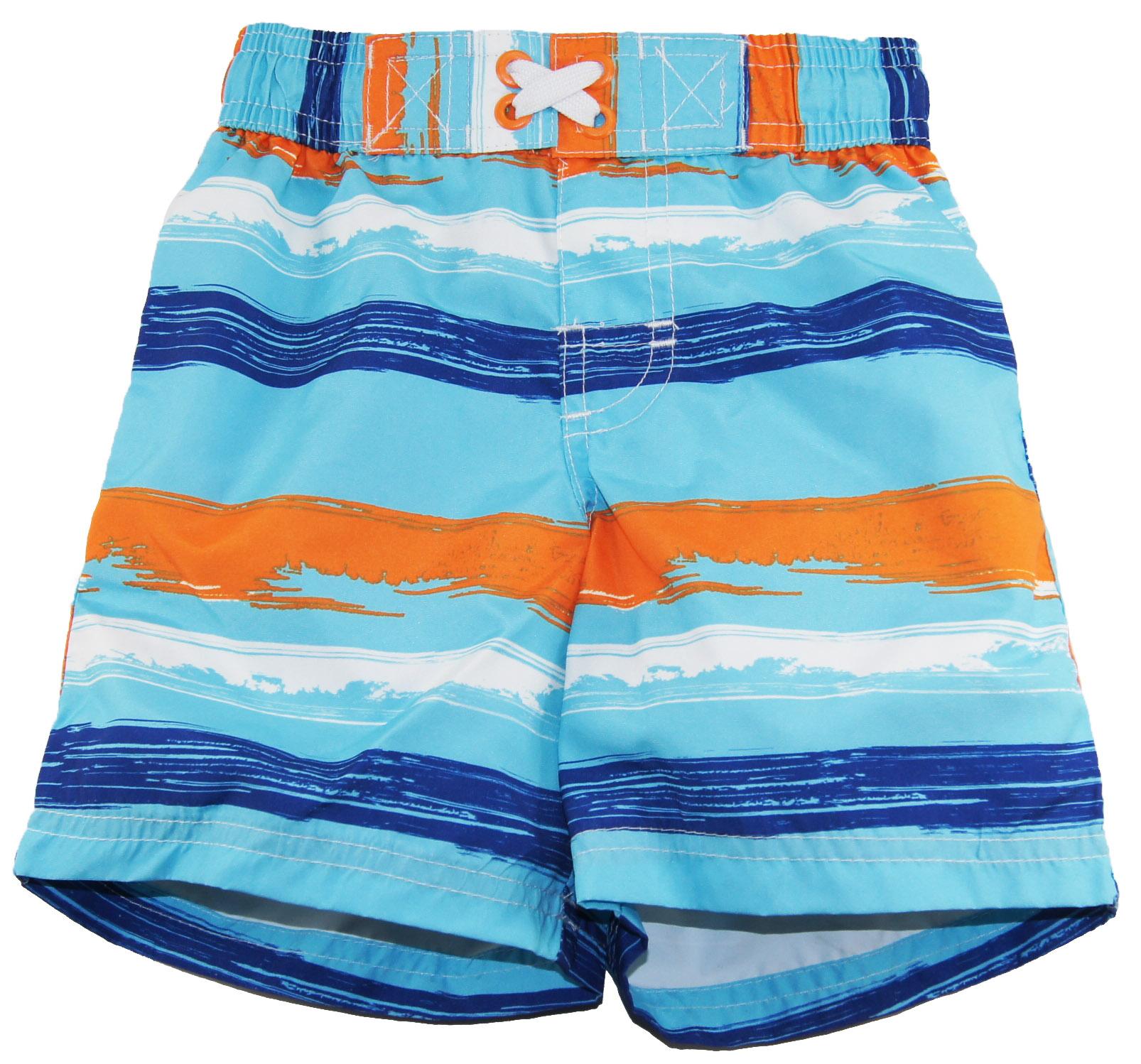 Infant Baby-Boys Swimwear Brushed Stripe Swim Trunk
