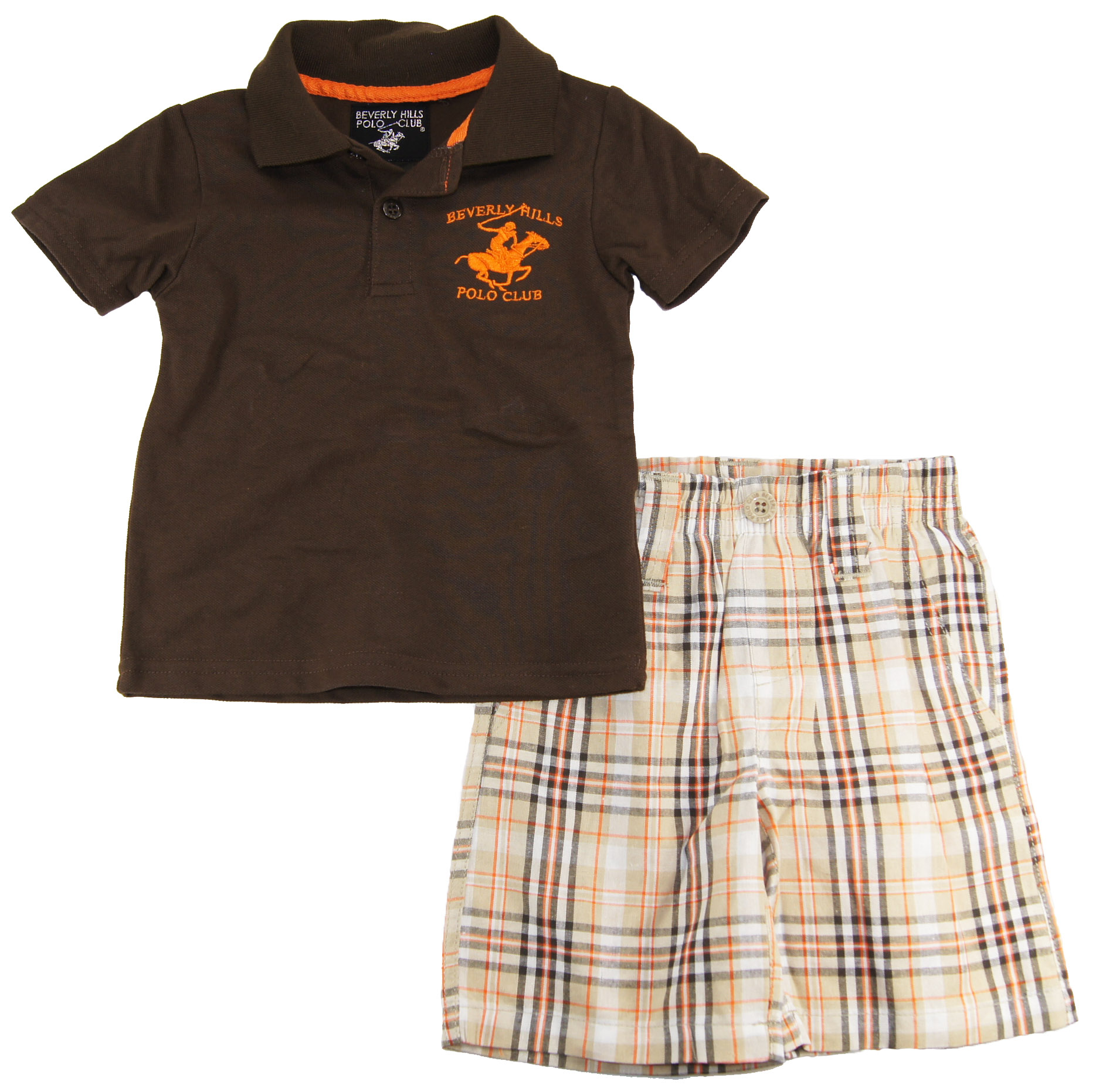 Beverly Hills Polo Club Beverly Hills Polo Baby Boys Polo Shirt and Plaid Shorts Set at Sears.com