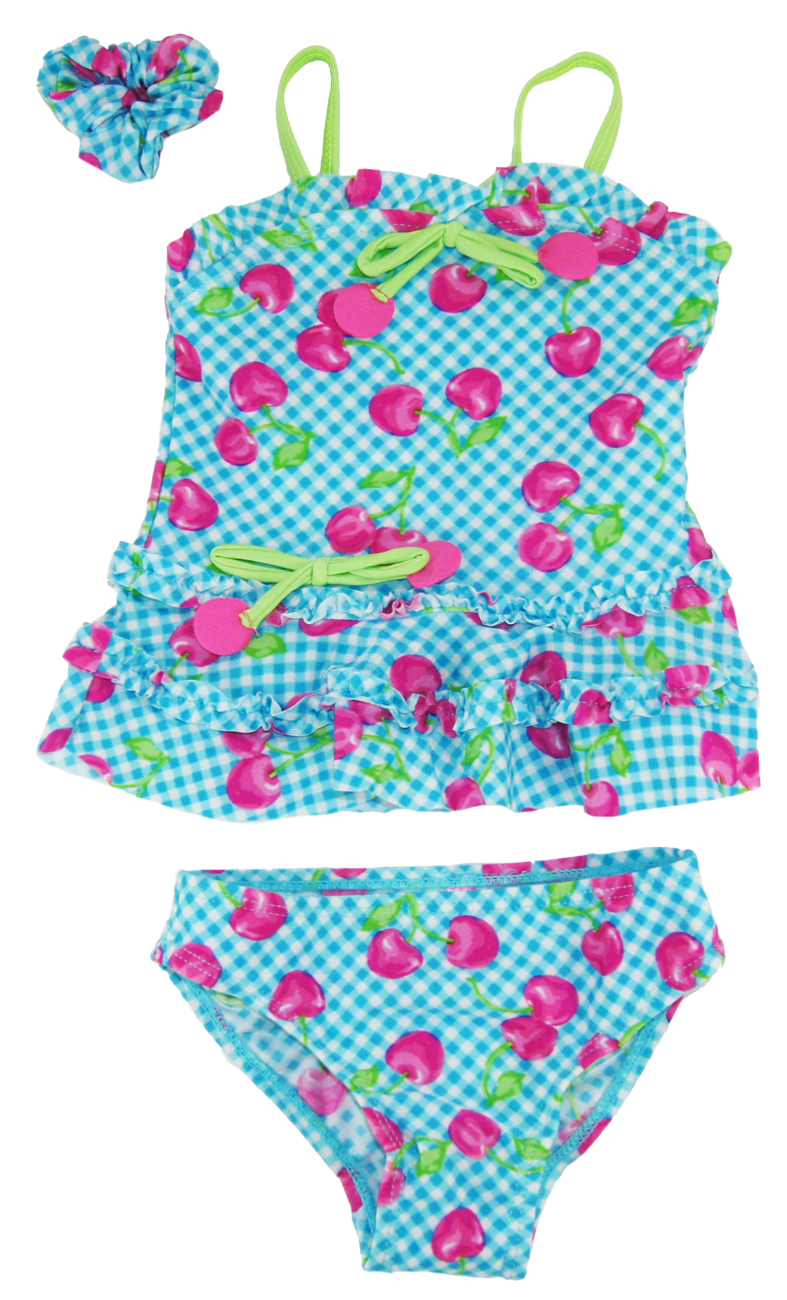 Topsi Baby Girls Cherry Rash Guard 2Pc Swim Set