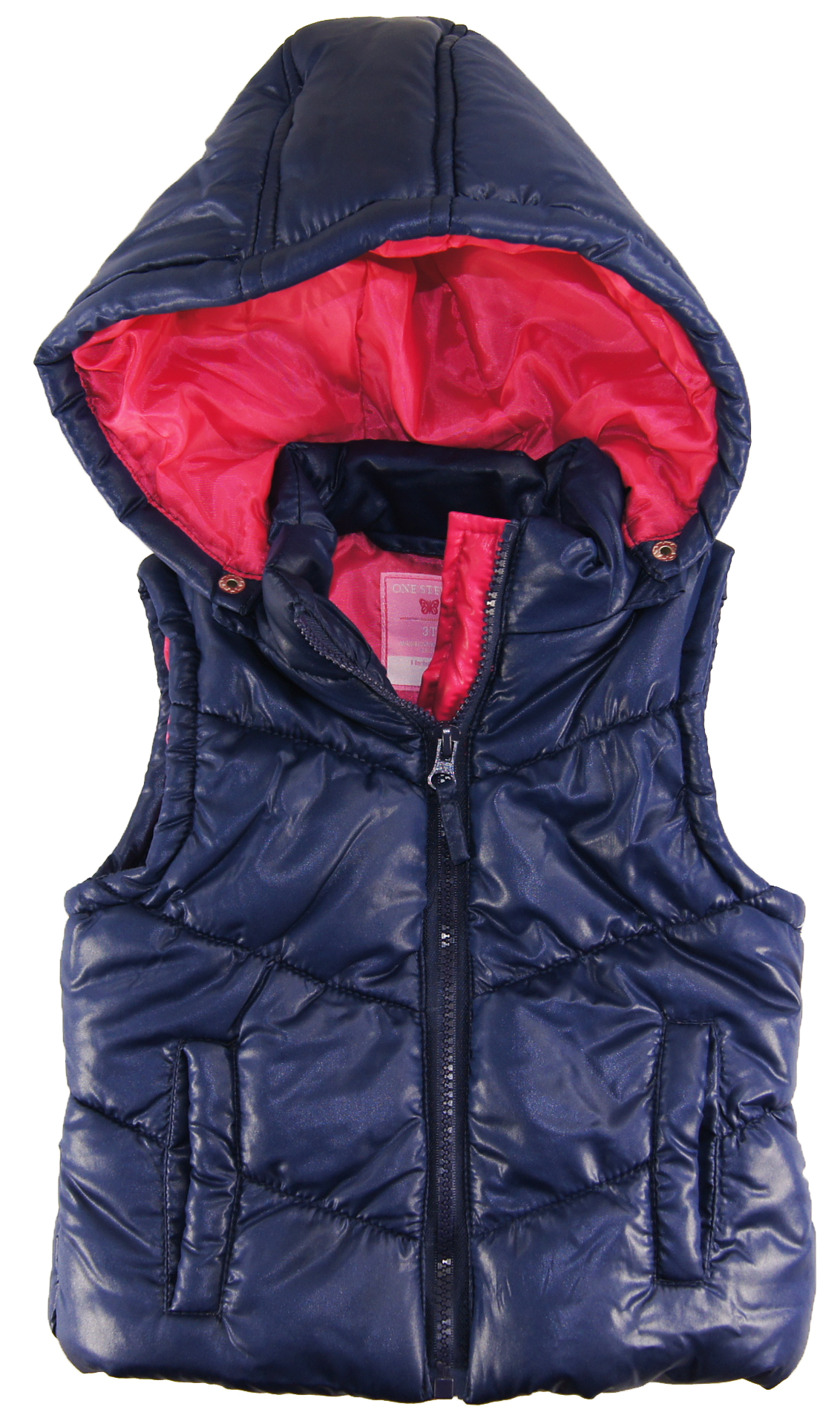 One Step Up Little Girls Bubble Vest with Detachable Hood at Sears.com