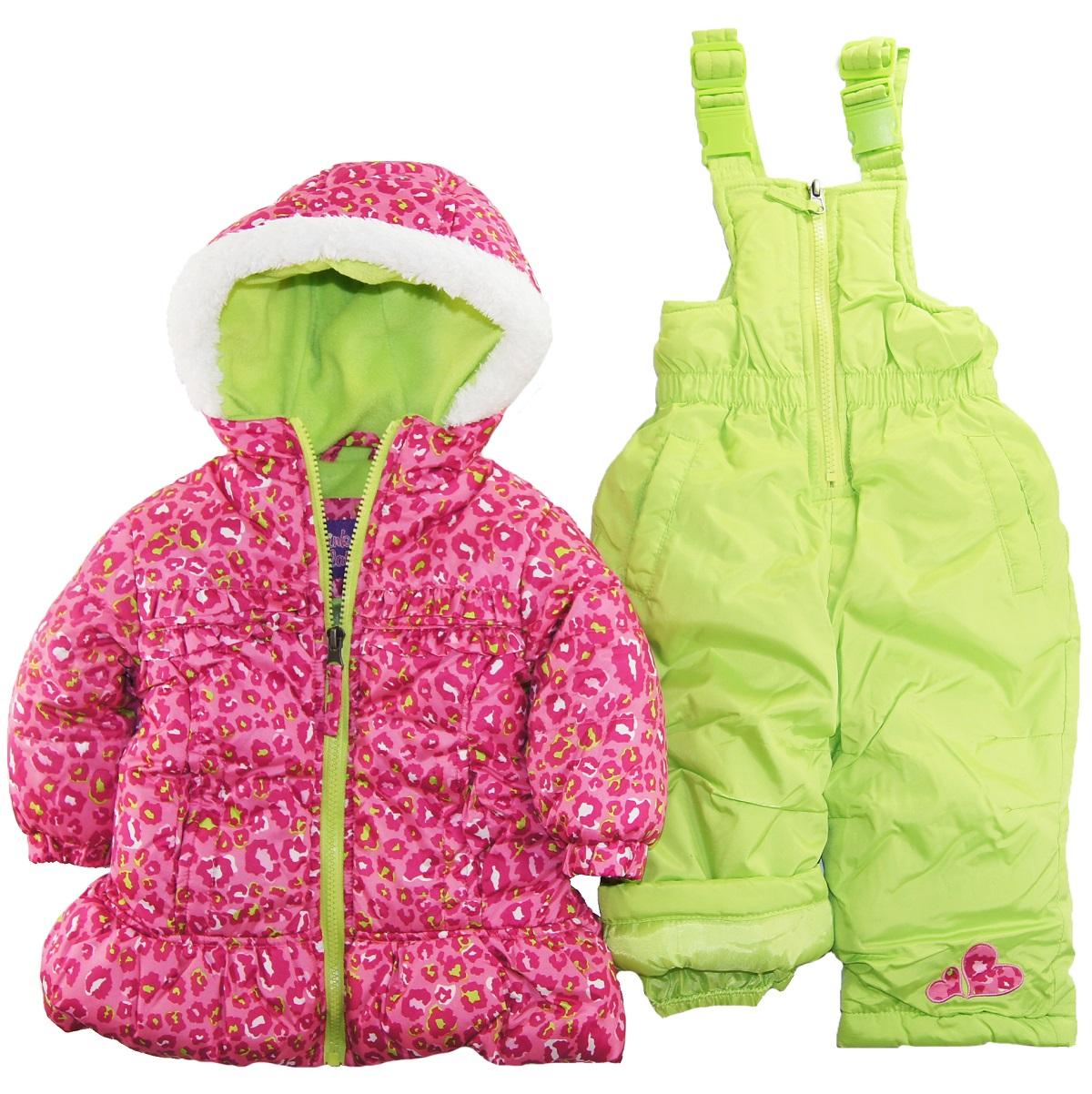Pink Platinum Baby Girls Infant 2 Piece Snowsuit Cheetah Print Jacket